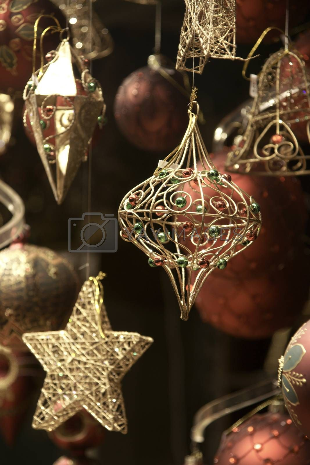 Celebrating merry christmas - winter holiday decorations