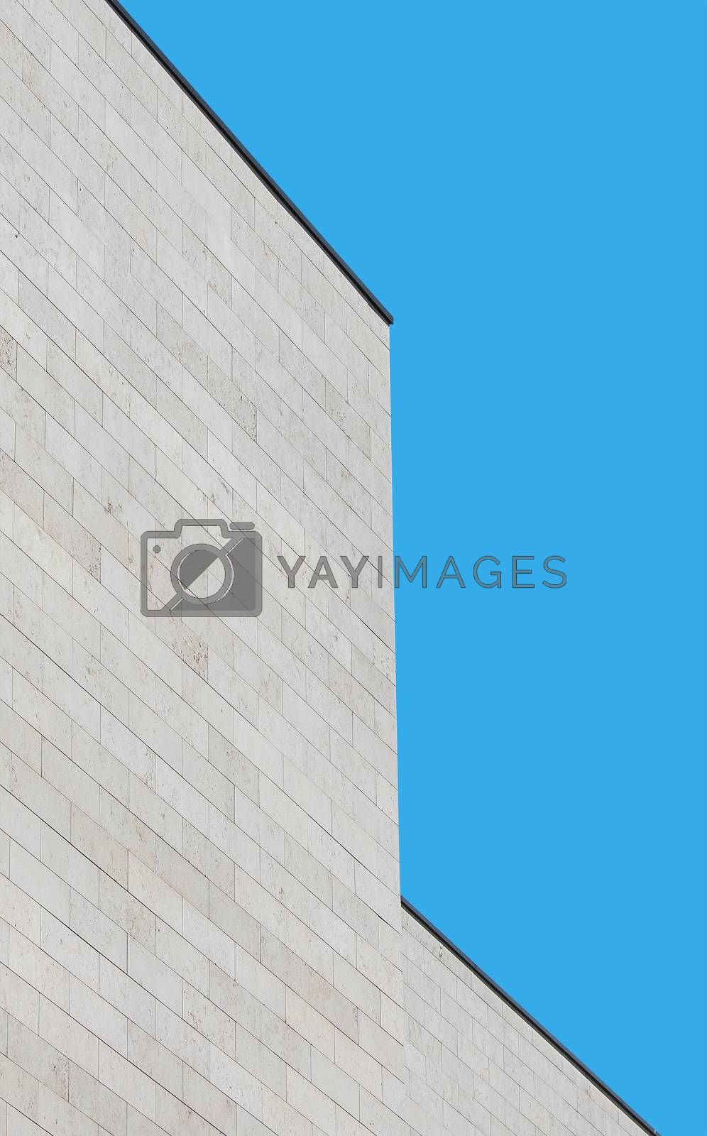 Verticaly oriented picture of modern building as architecture abstract