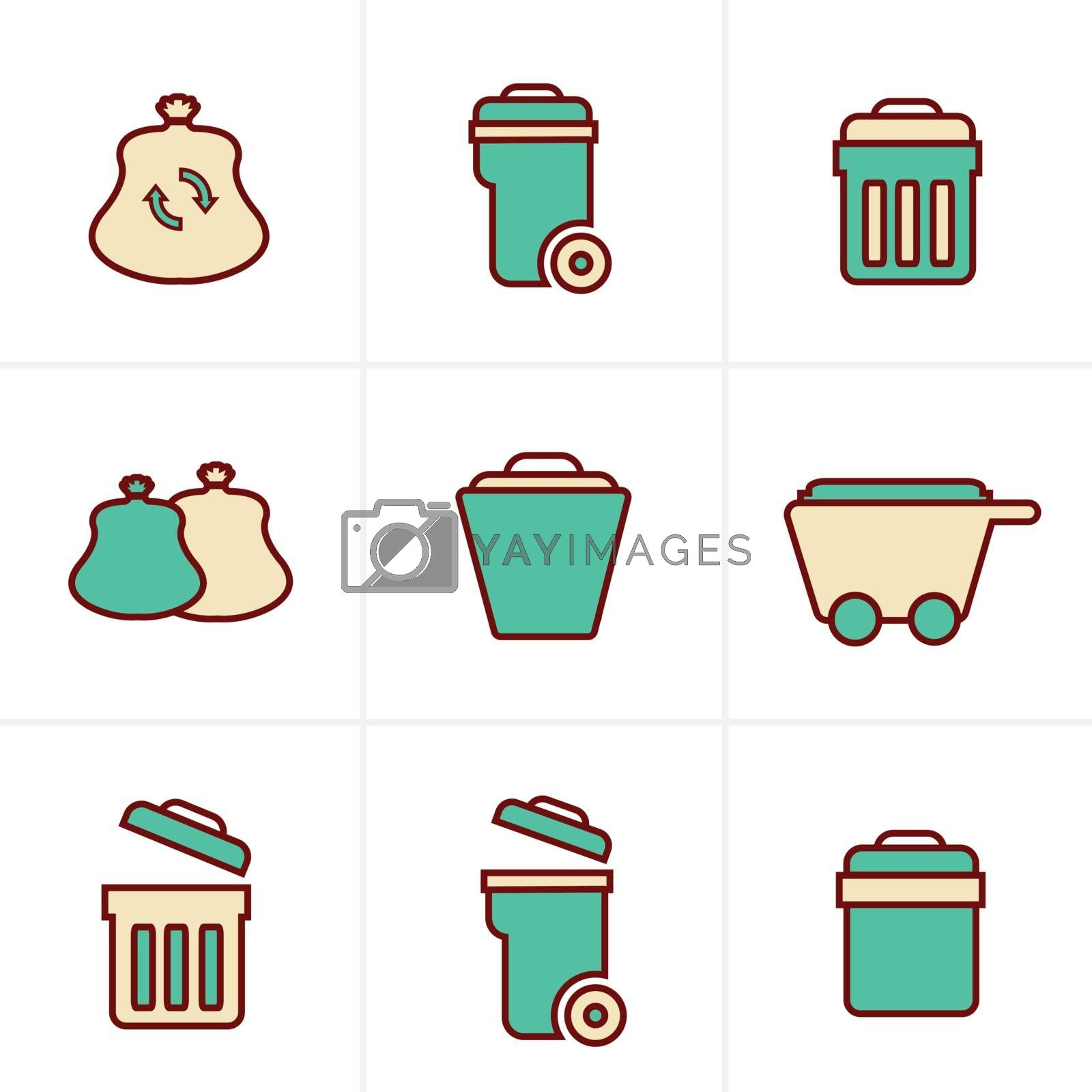 Icons Style Icons Style  Garbage Icons