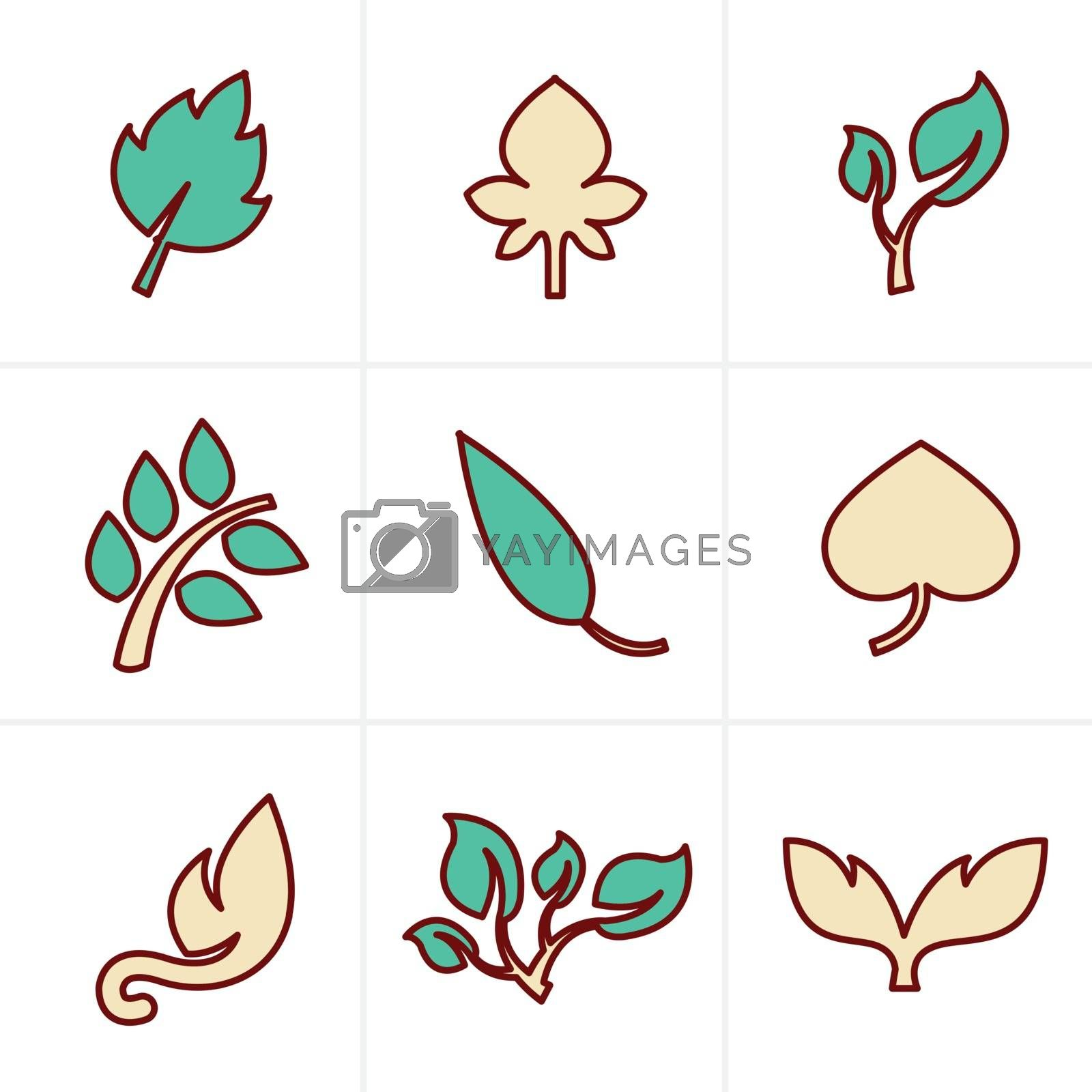 Icons Style Icons Style  leaf icon