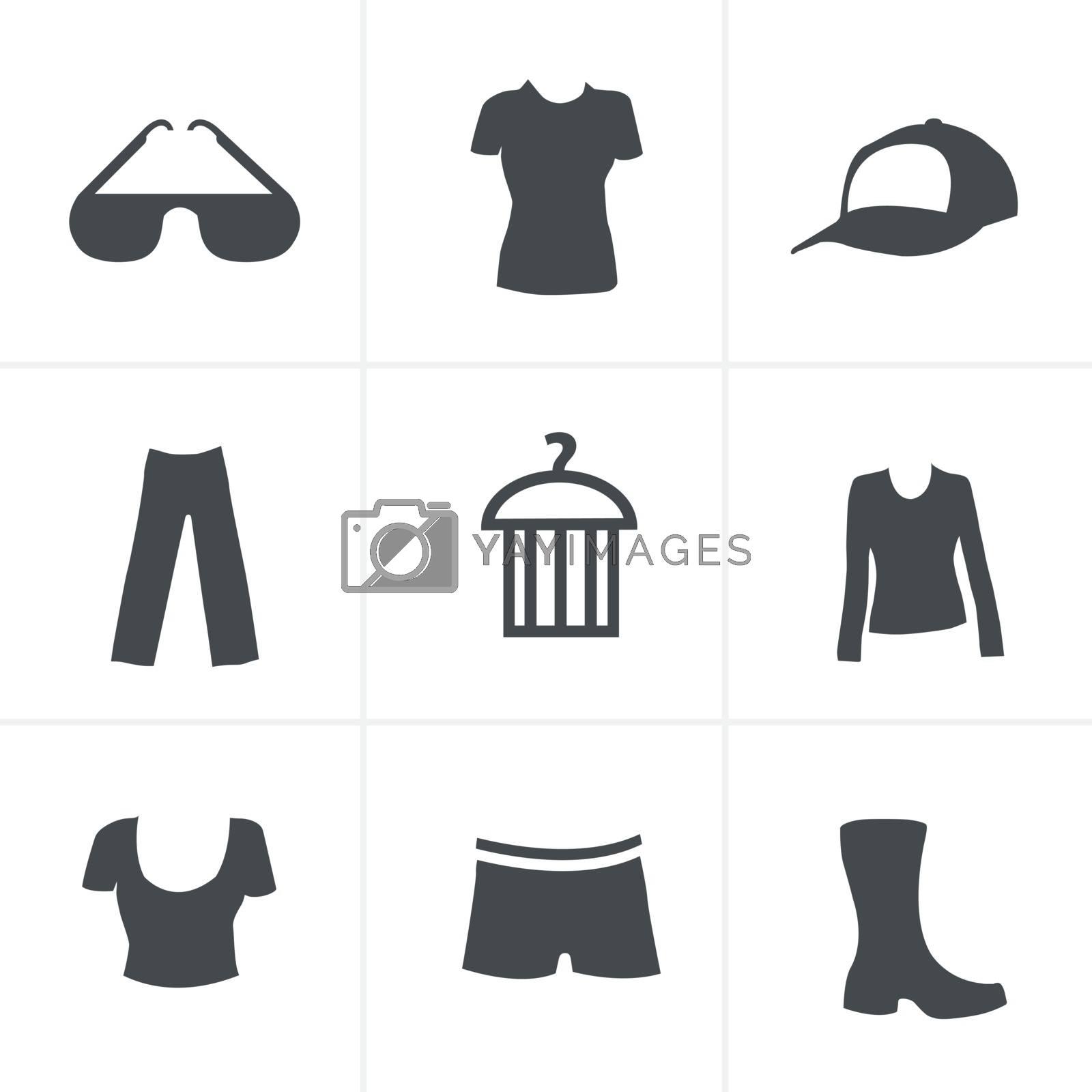 fashion icon set (black version)