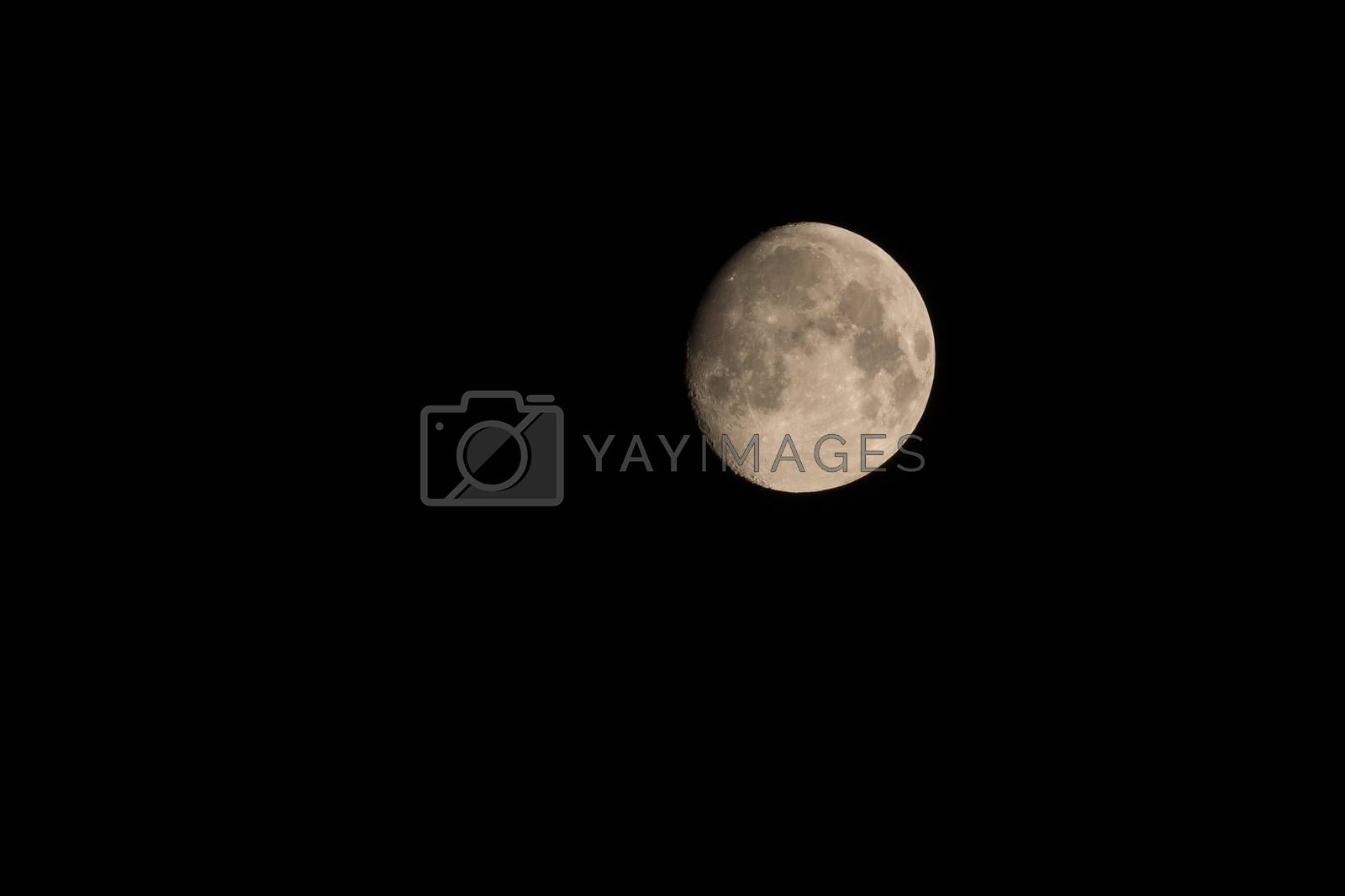 The photo shows the moon