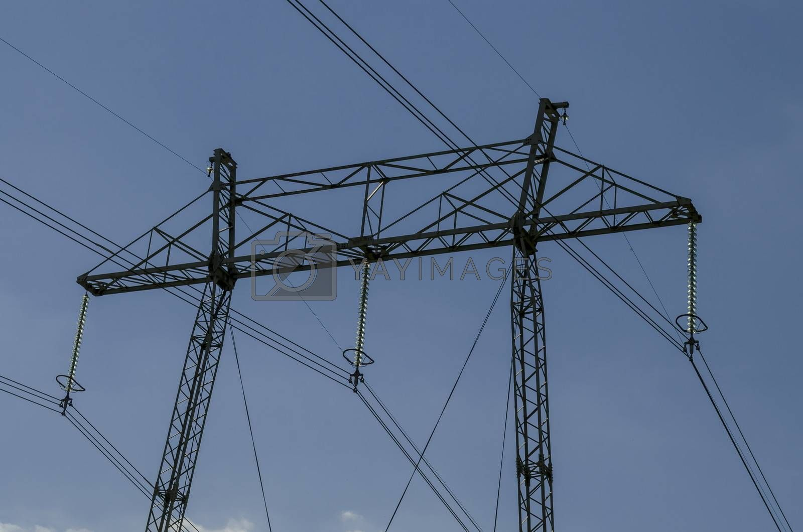Upper part of electric power transmission line, Plana mountain, Bulgaria