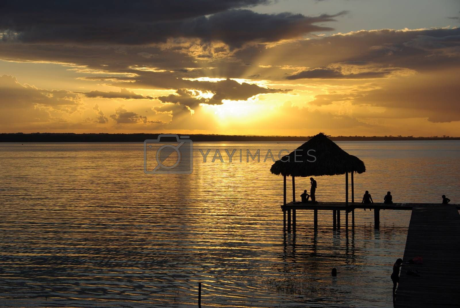 Royalty free image of Sunset in Guatemala by pascalou95