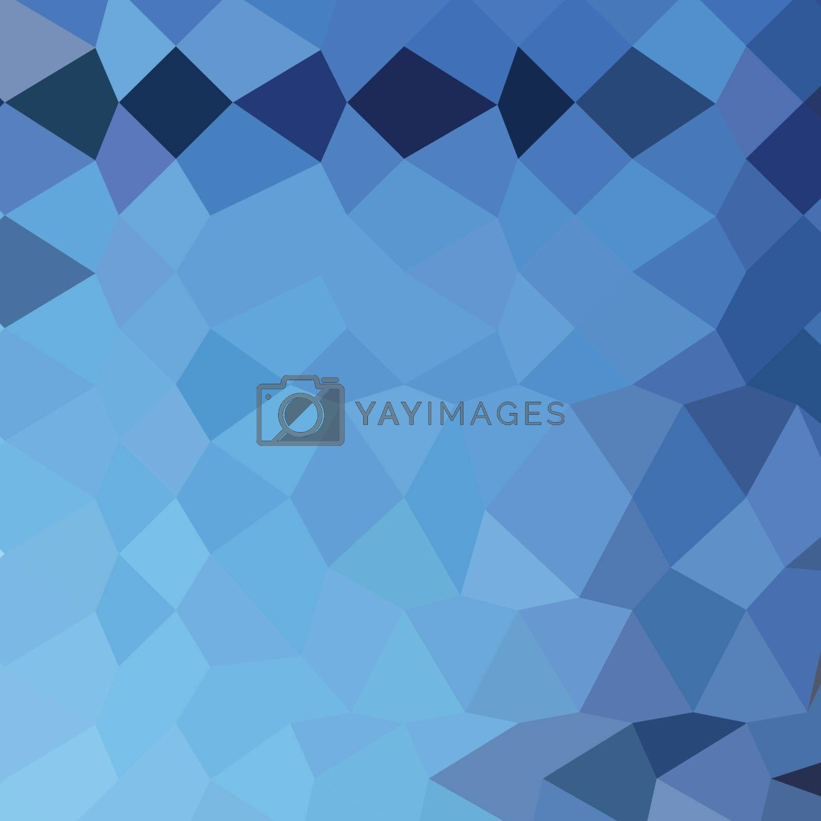 Low polygon style illustration of a blizzard blue abstract geometric background.