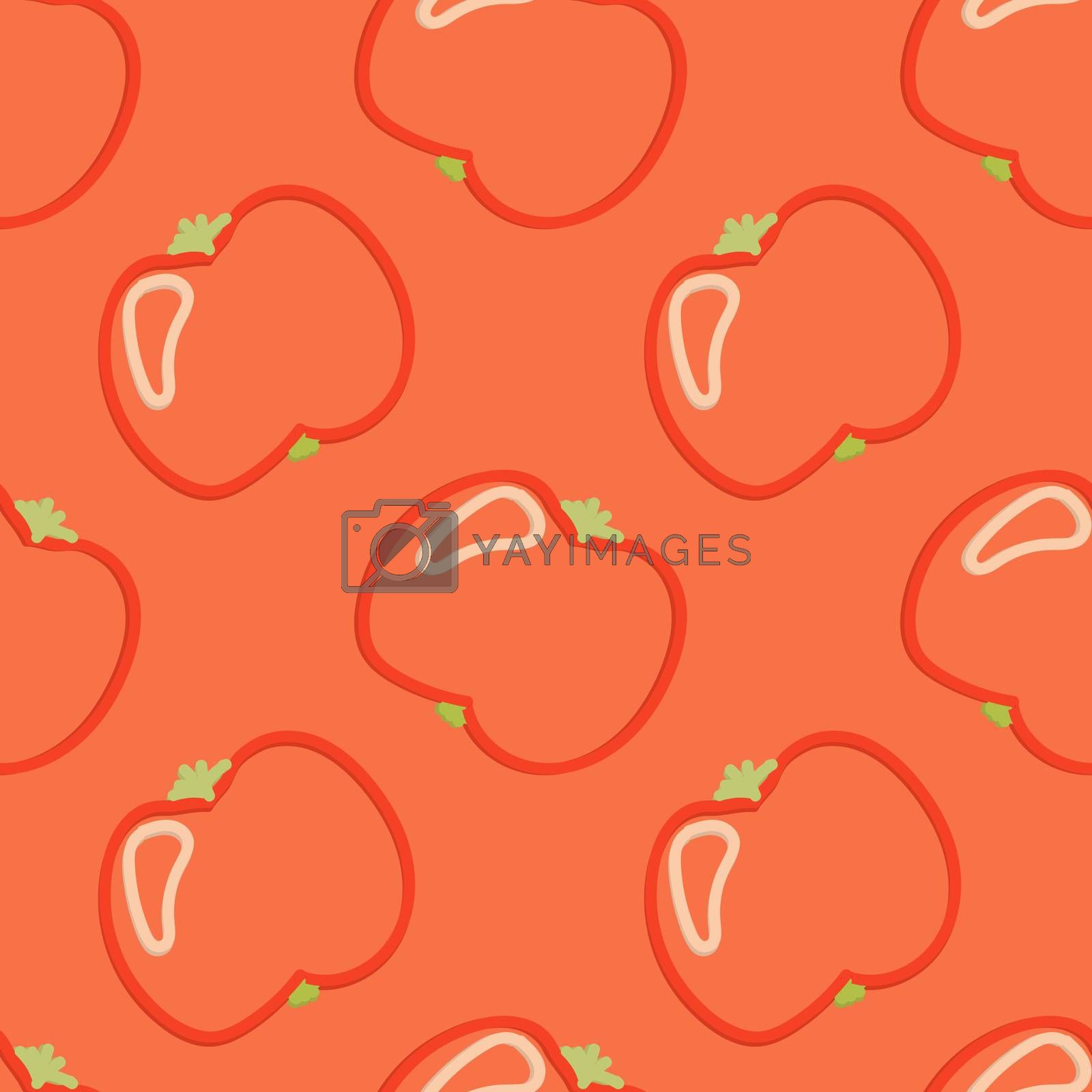 Tomato Seamless Pattern Kid's Style Hand Drawn Rastr