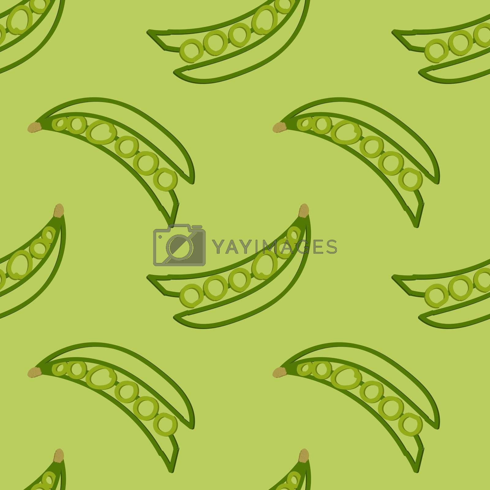 Peas Seamless Pattern Kid's Style Hand Drawn Rastr
