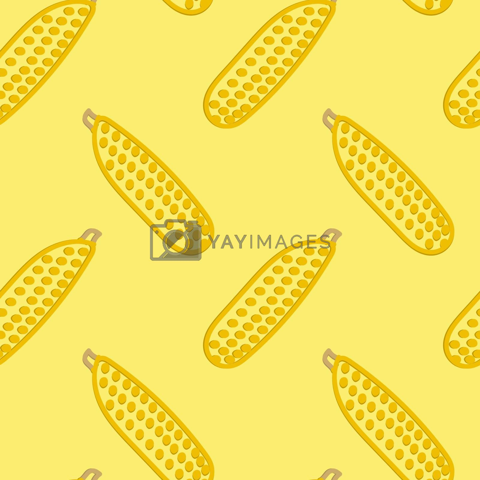 Corn Seamless Pattern Kid's Style Hand Drawn Rastr
