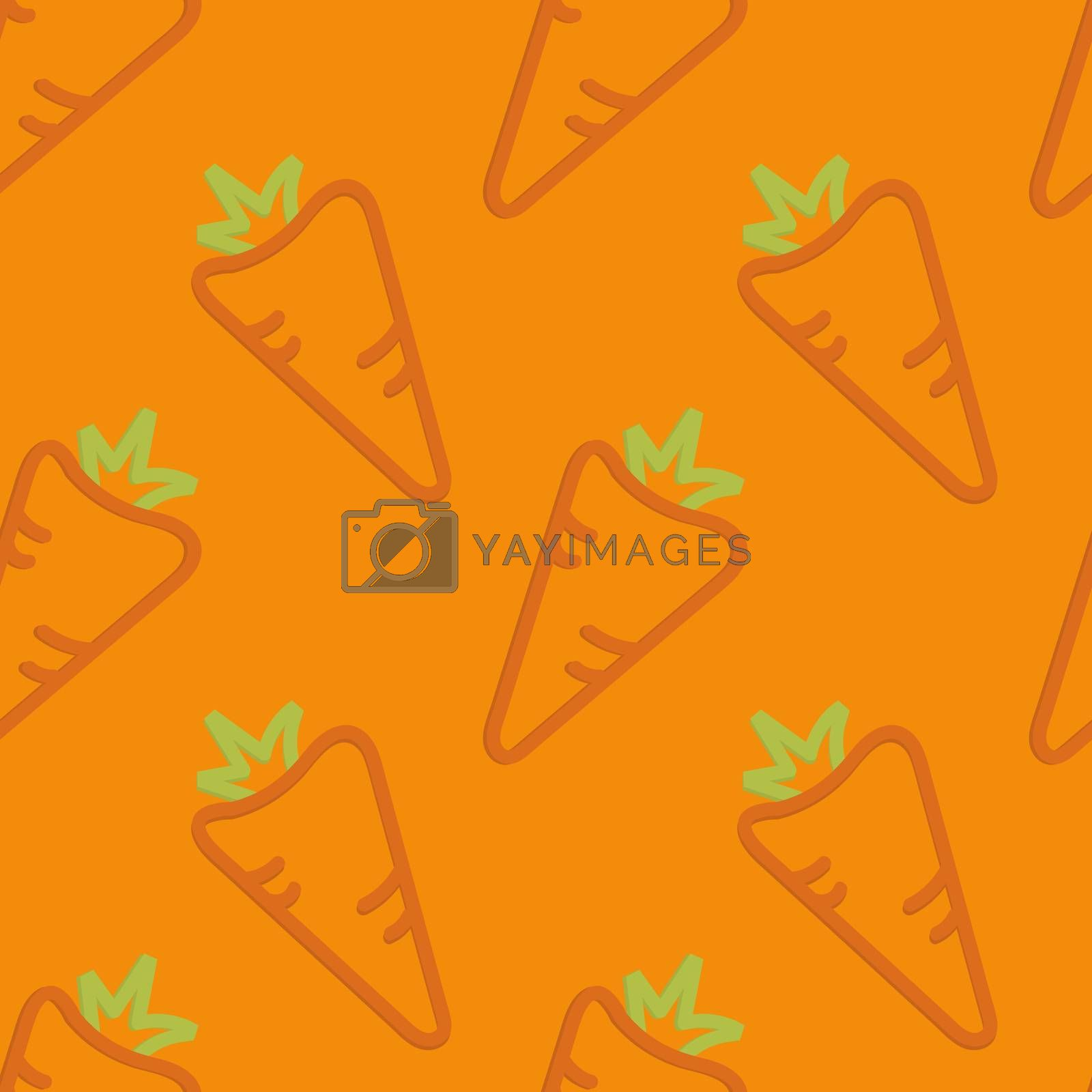 Carrots Seamless Pattern Kid's Style Hand Drawn Rantr
