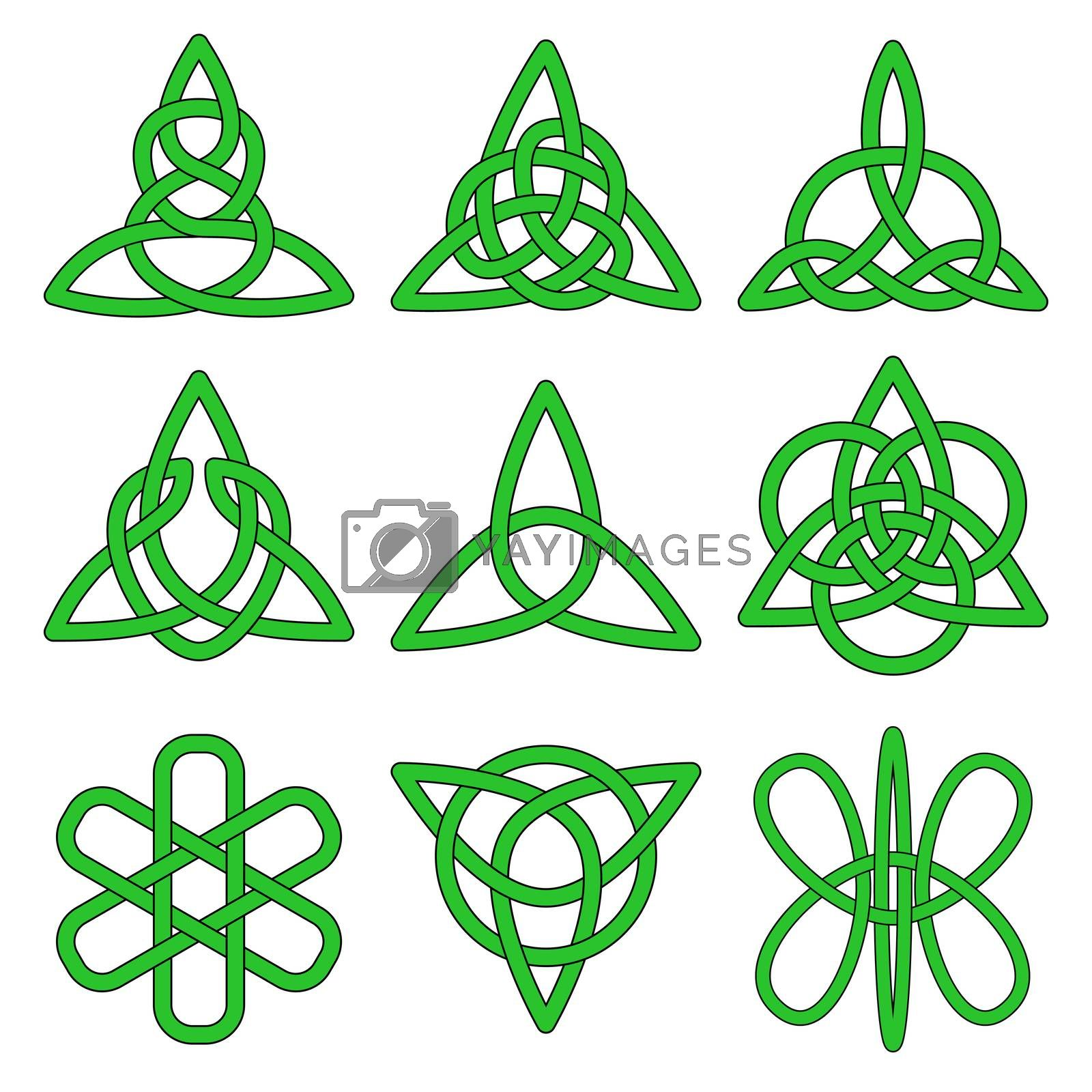 Royalty free image of Collection of Celtic knots  by Zhukow