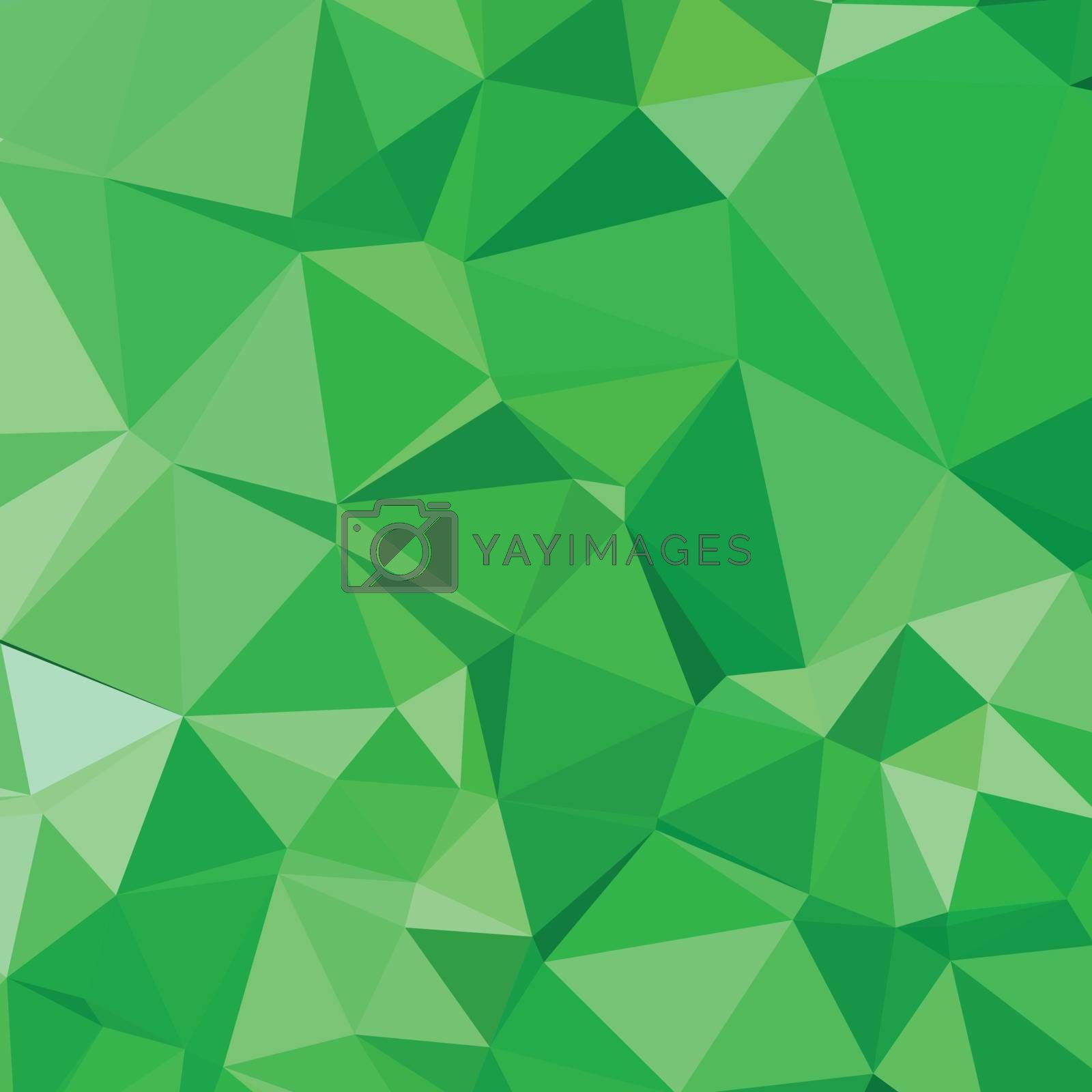 Low polygon style illustration of inchworm green abstract geometric background.