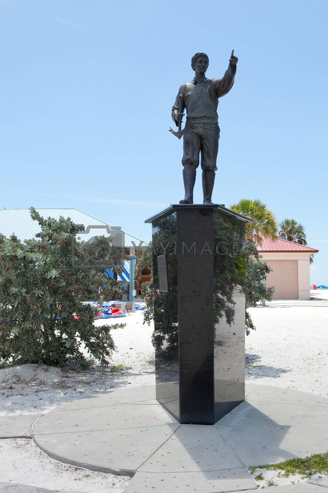 First Greel in America Theodoros Griego public statue in Clearwater Florida.