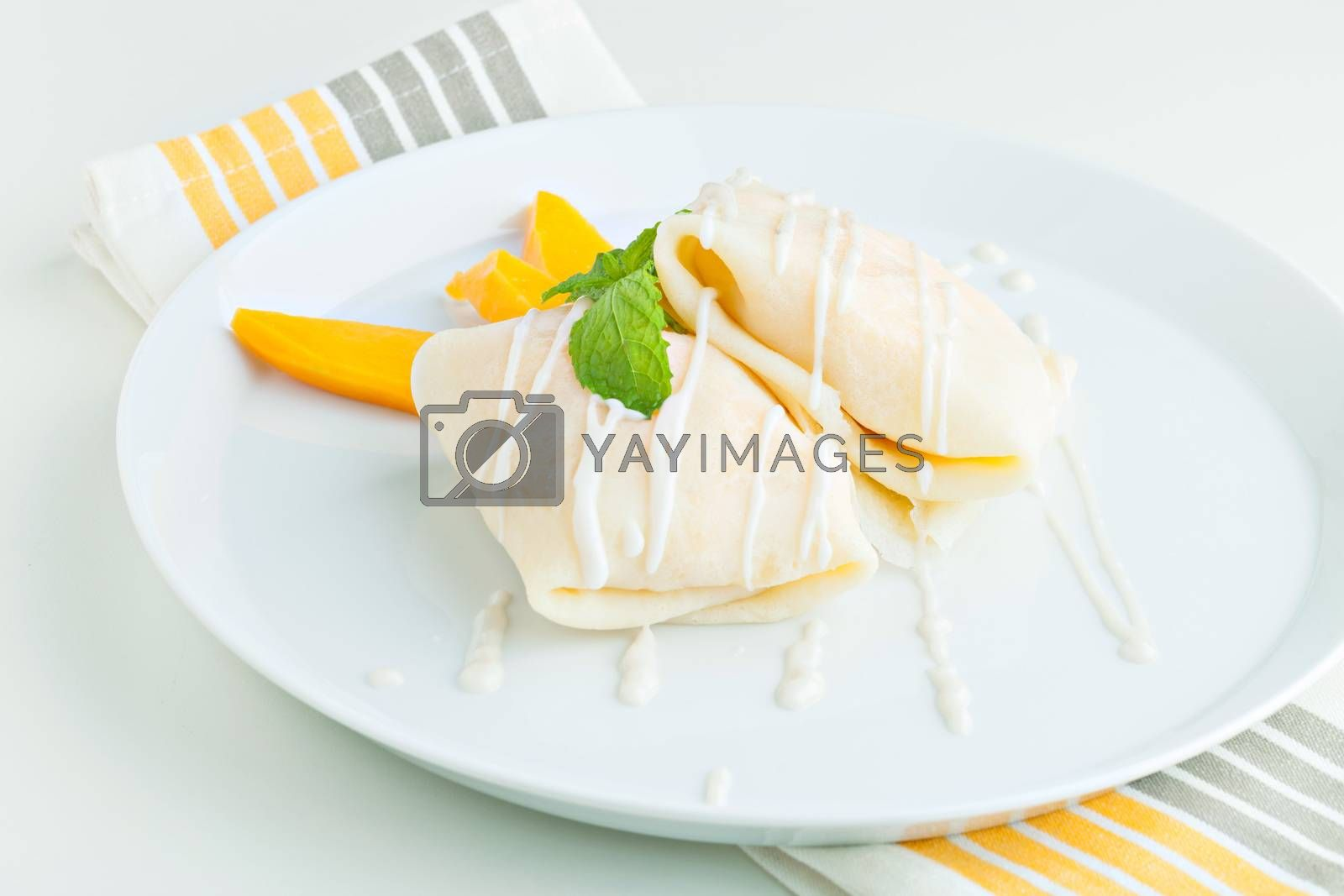 Mango Sticky Rice Crepes by graficallyminded