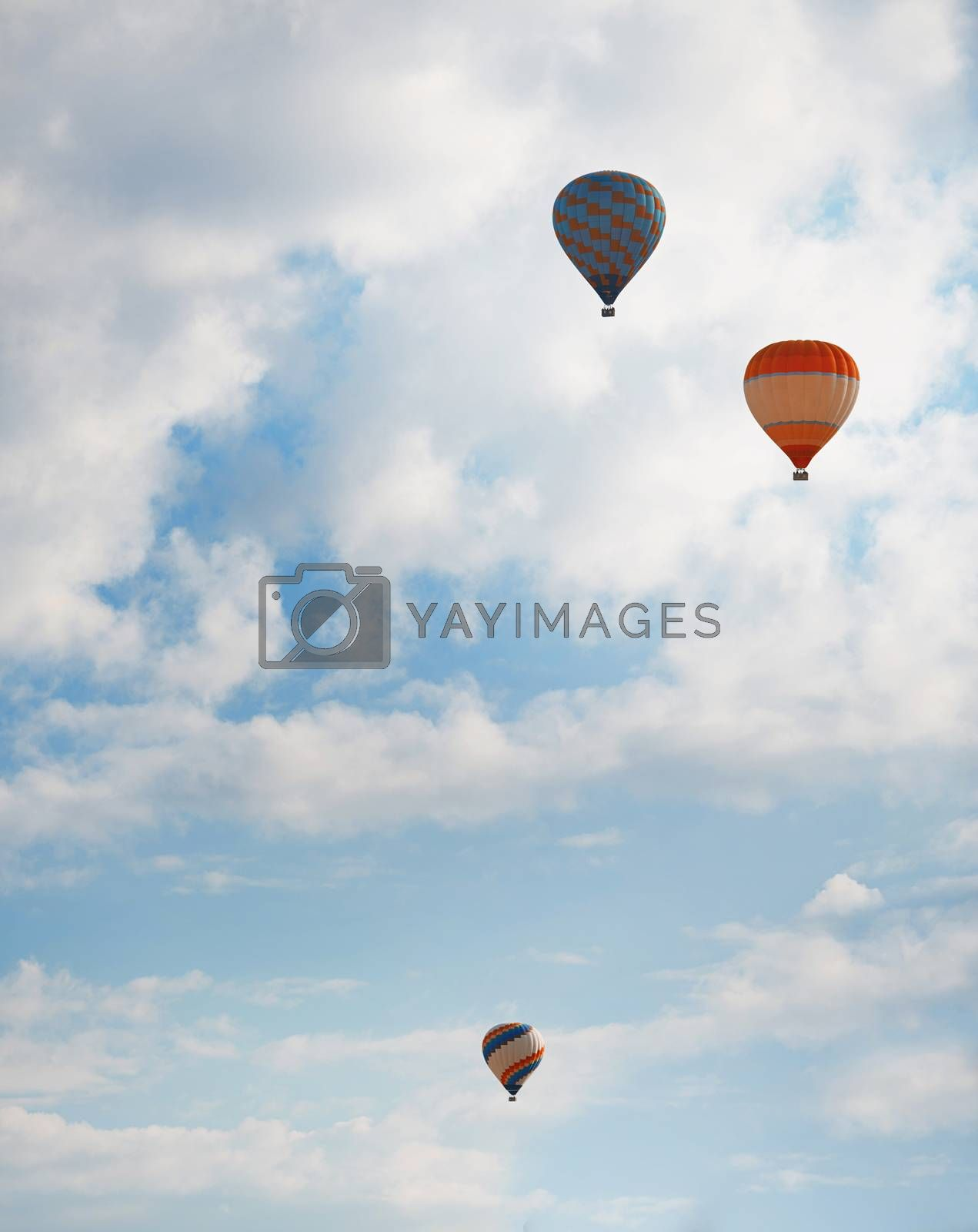 Air balloons in blue sky by Novic