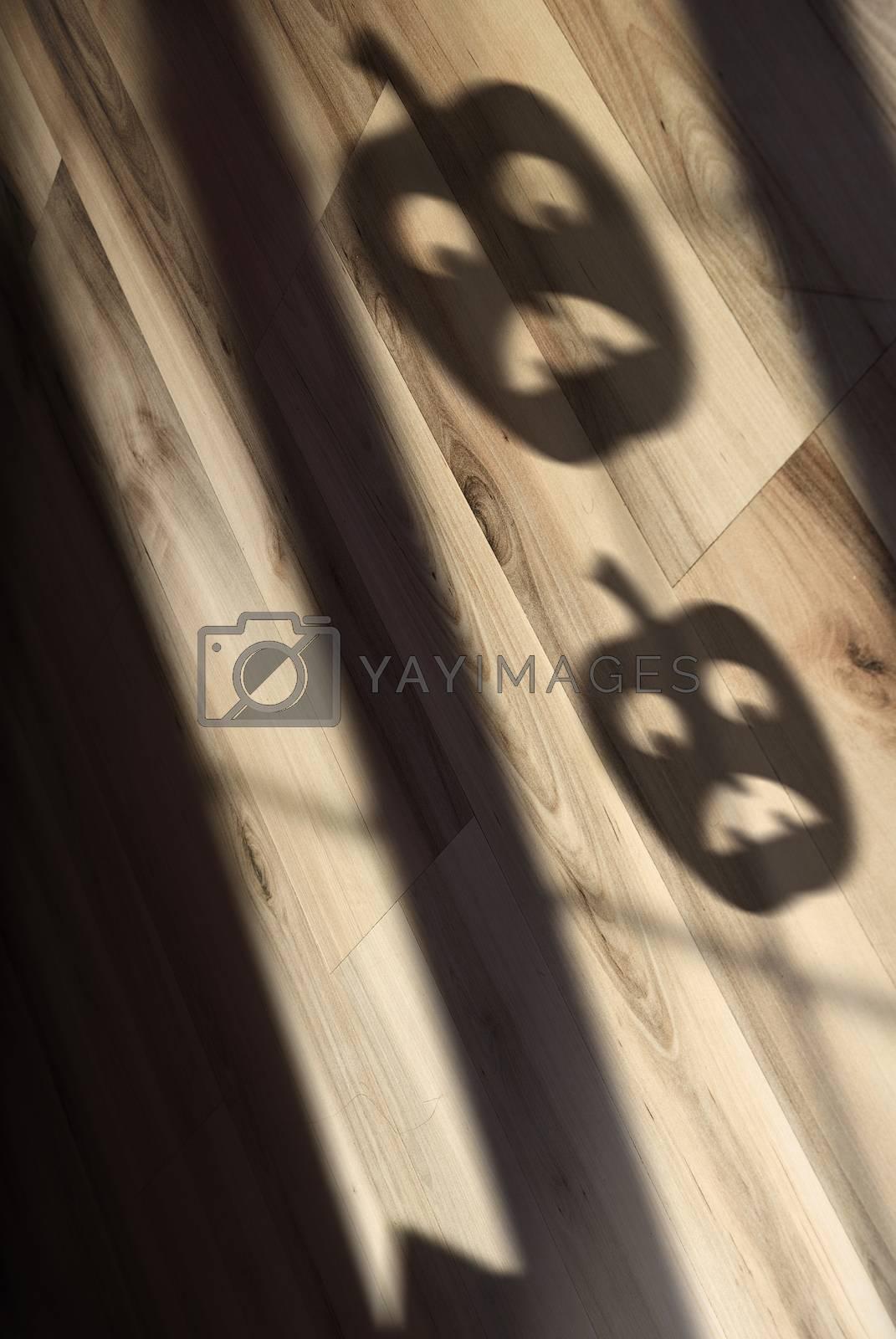 Shadow of Halloween pumpkin by Novic