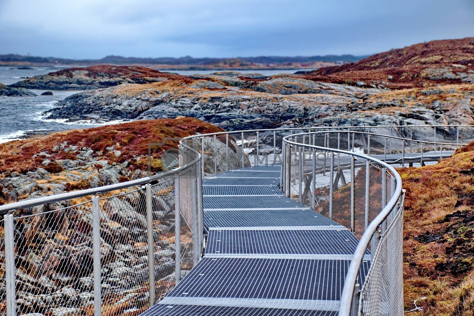 Royalty free image of Artificial footpath in Norway by anderm