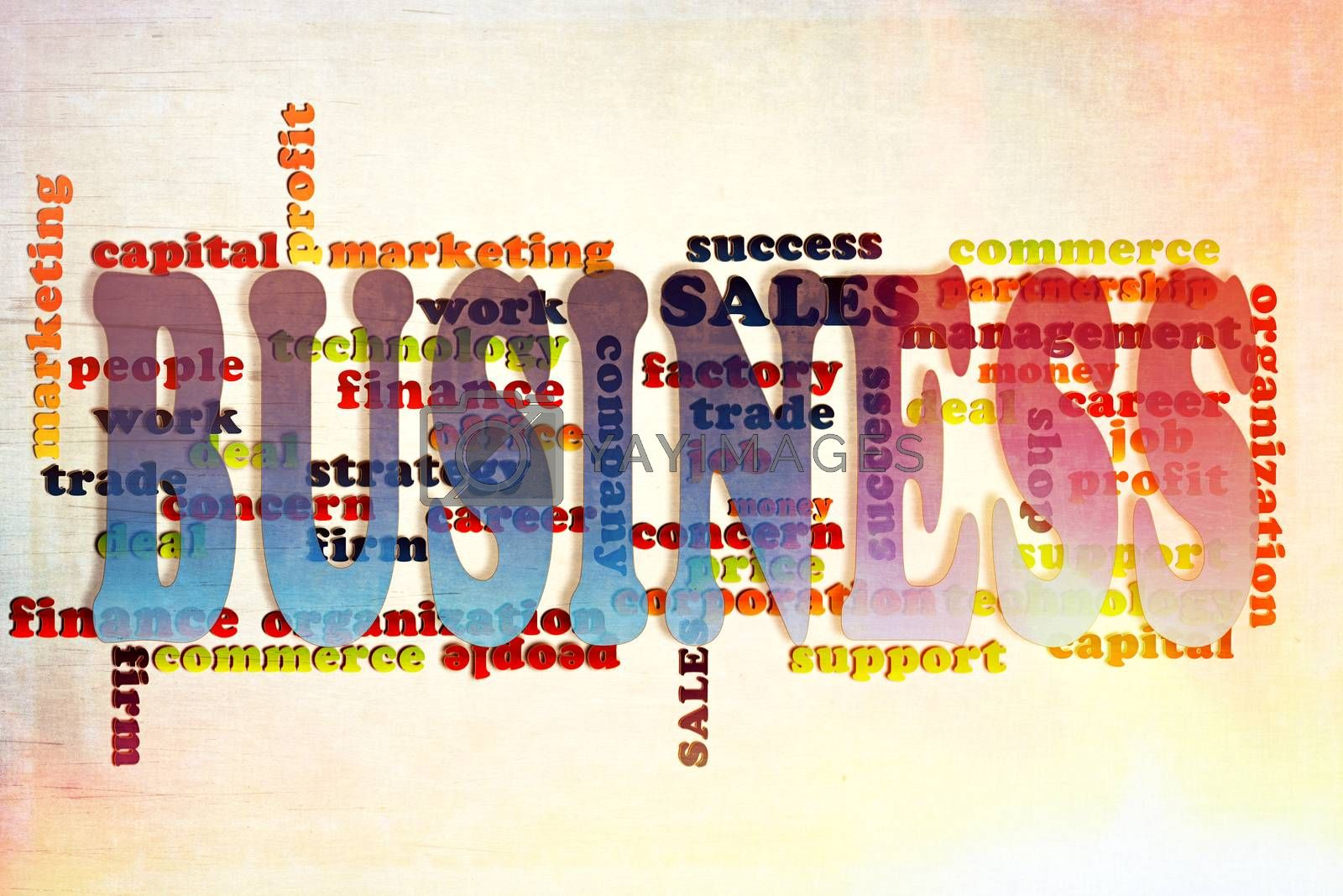 Business words concept on the abstract background