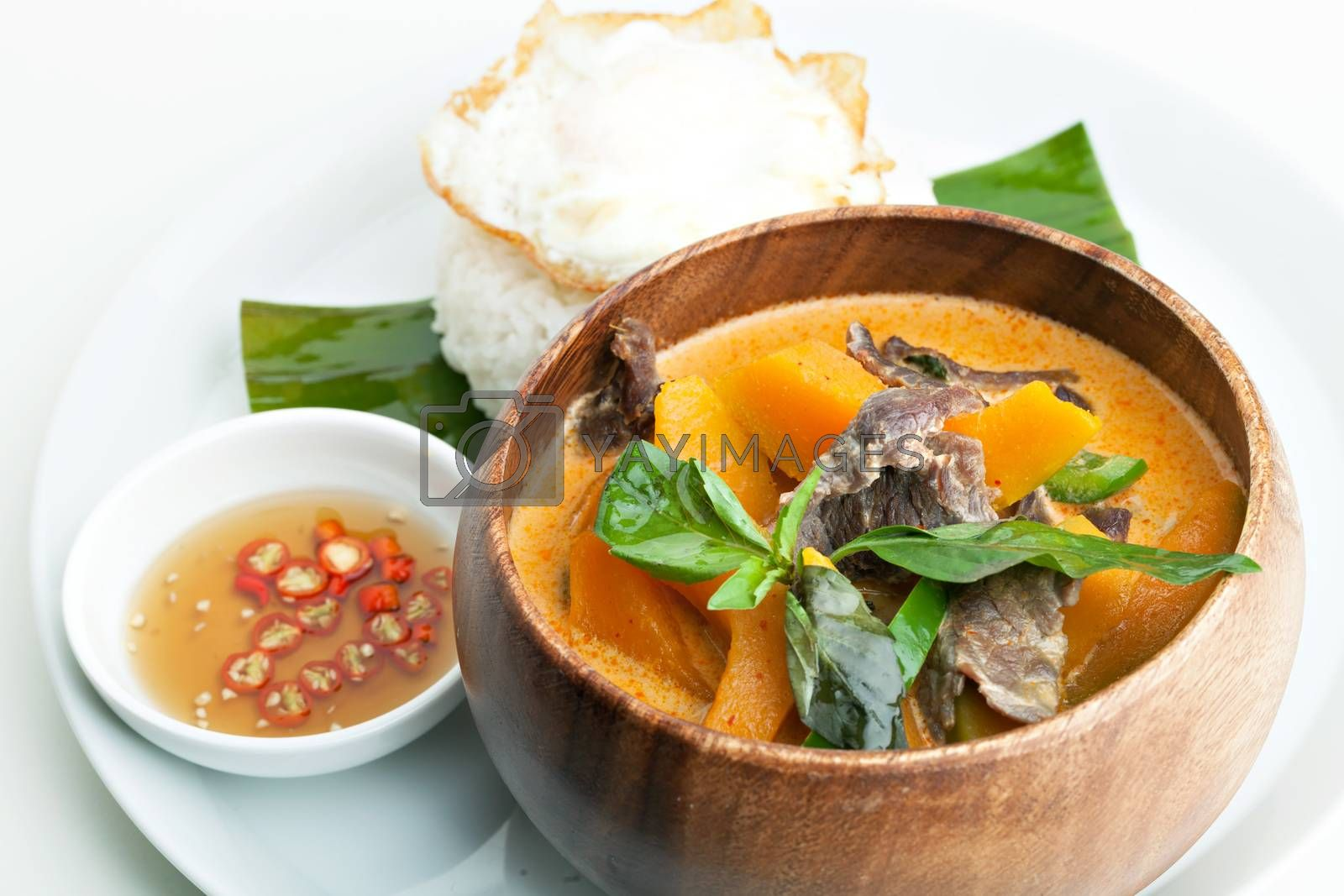Pumpkin Red Curry with Beef by graficallyminded