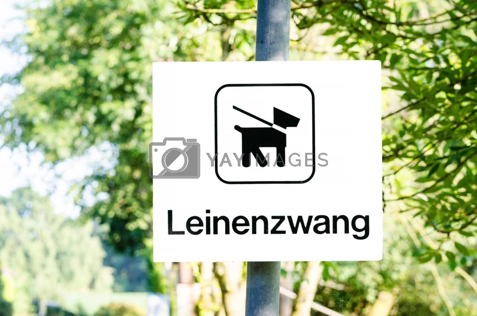 Dog on a leash sign    by JFsPic