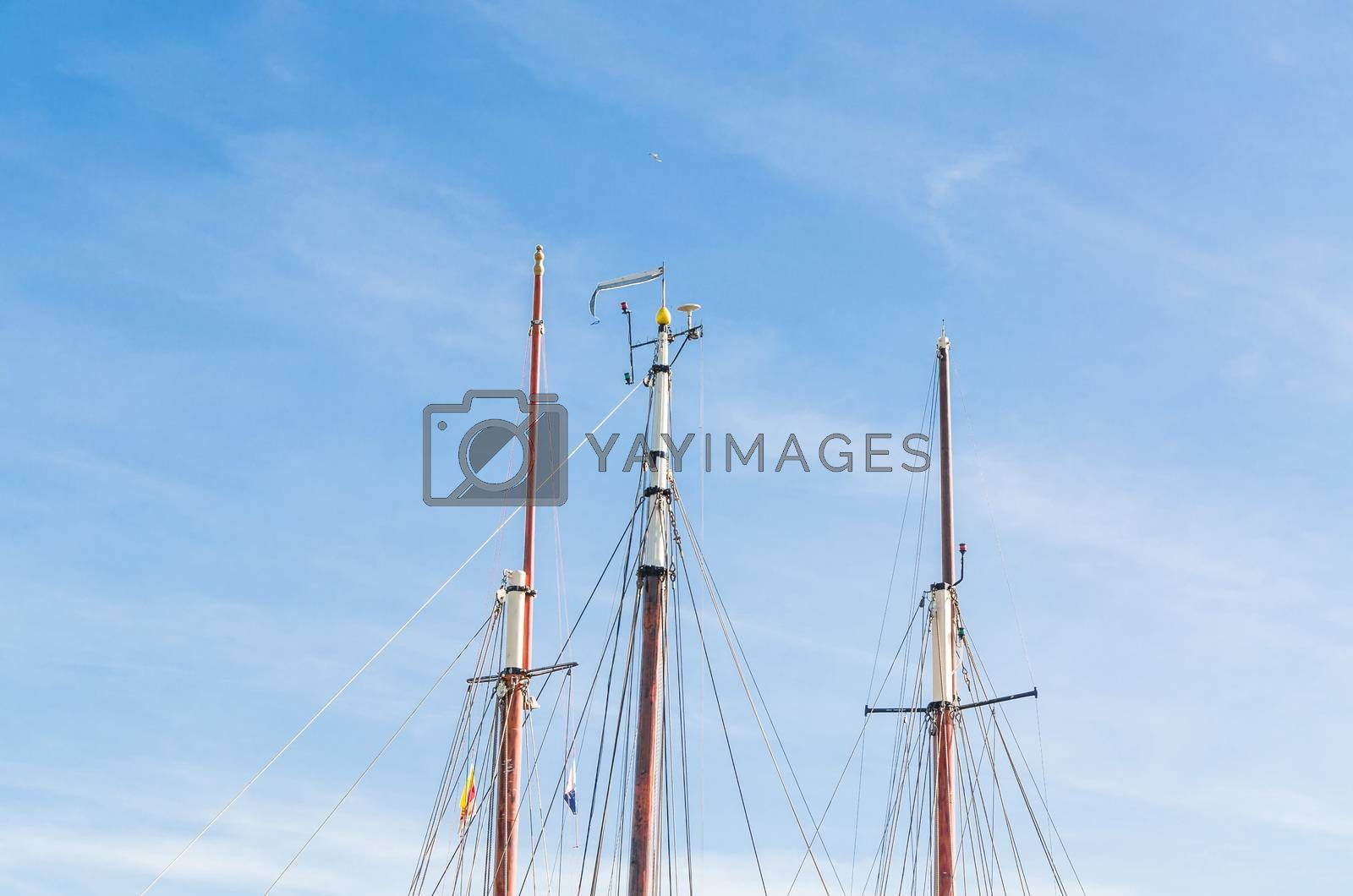 Various ship masts by JFsPic