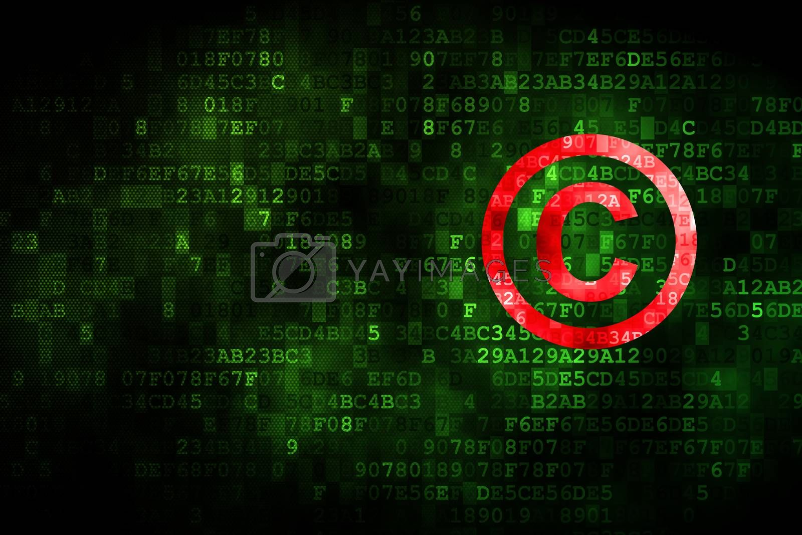Law concept: Copyright on digital background by maxkabakov