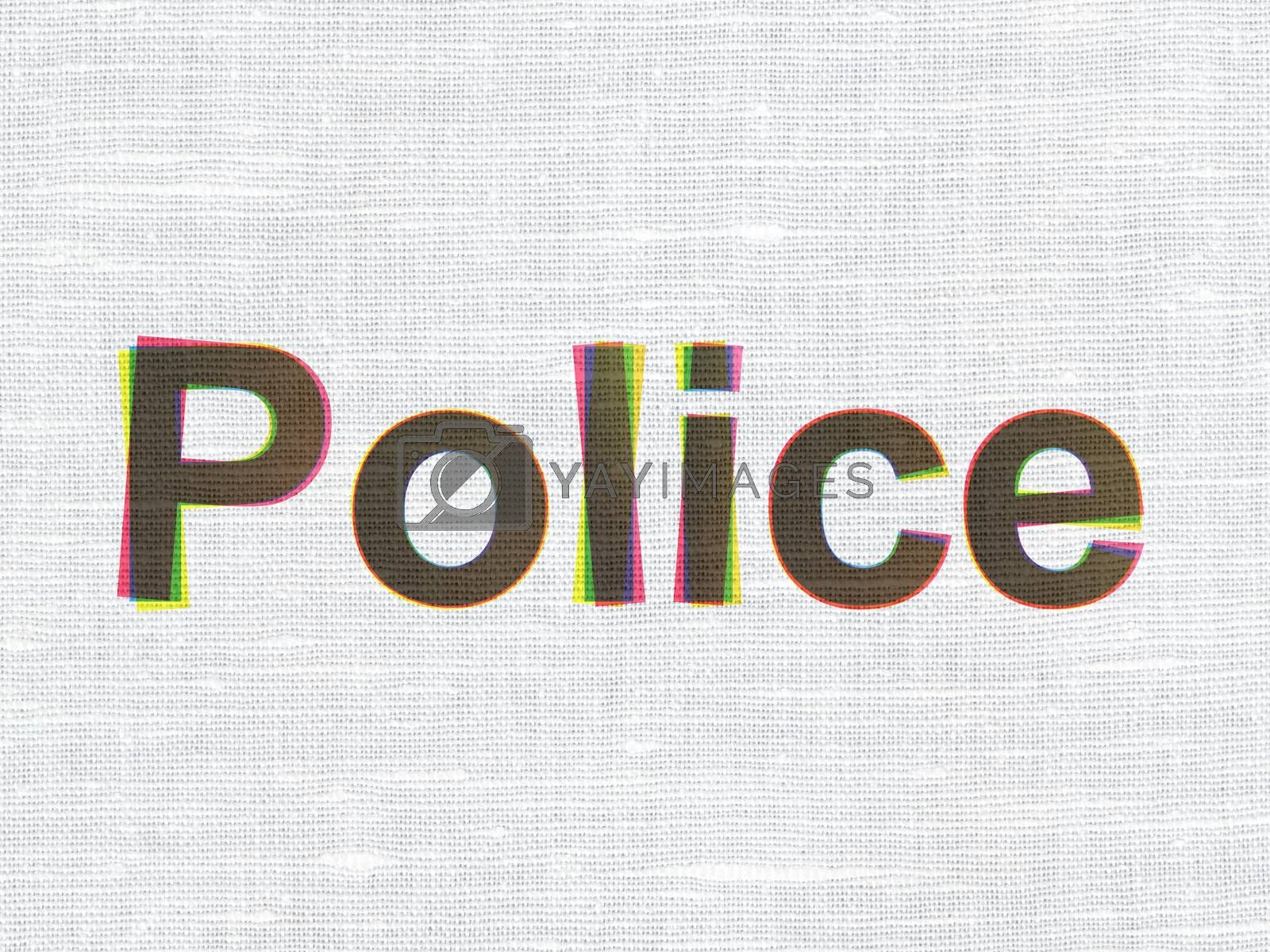 Law concept: Police on fabric texture background by maxkabakov
