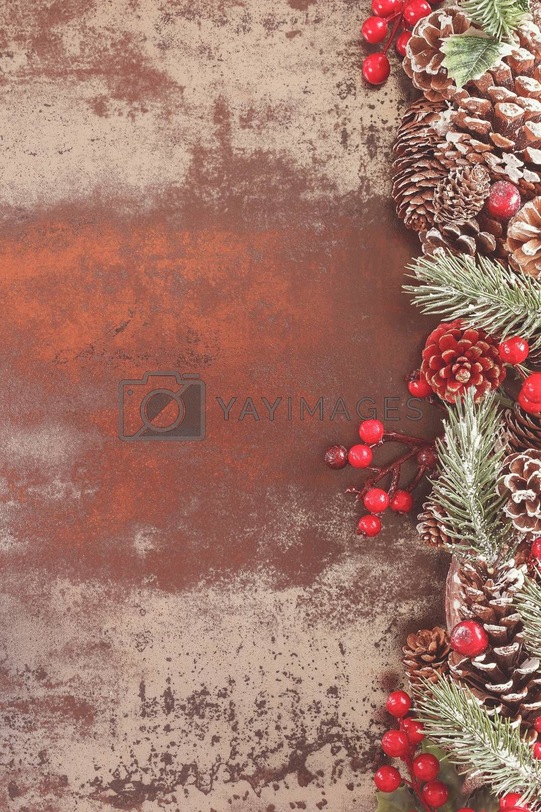 Holiday frame with pine cones by Slast20