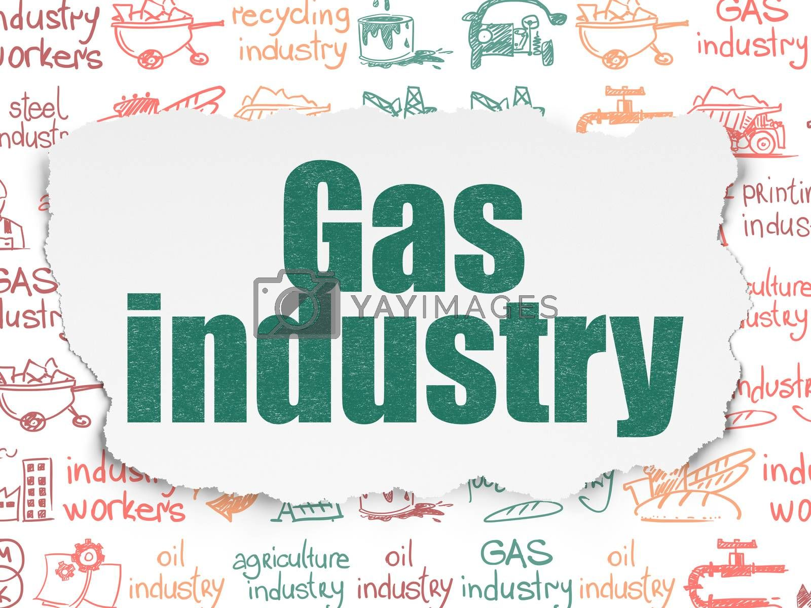 Manufacuring concept: Gas Industry on Torn Paper background by maxkabakov