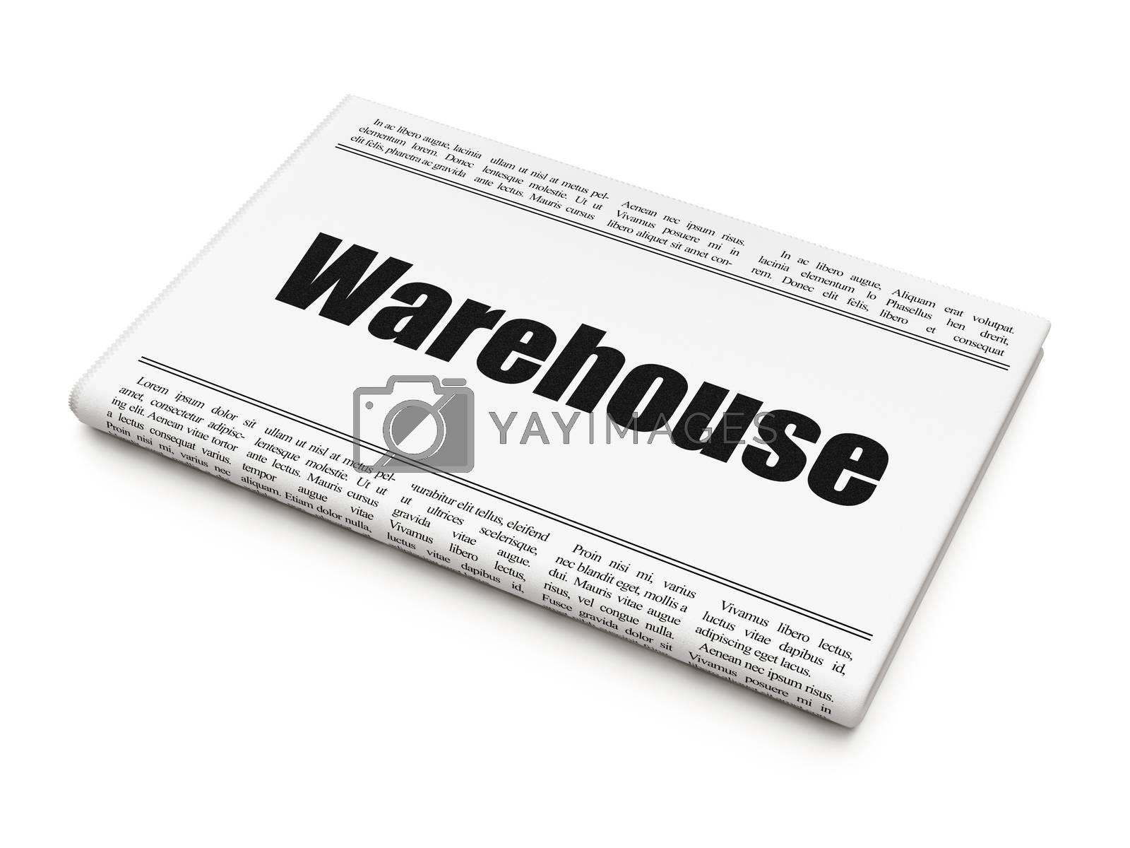 Industry concept: newspaper headline Warehouse by maxkabakov