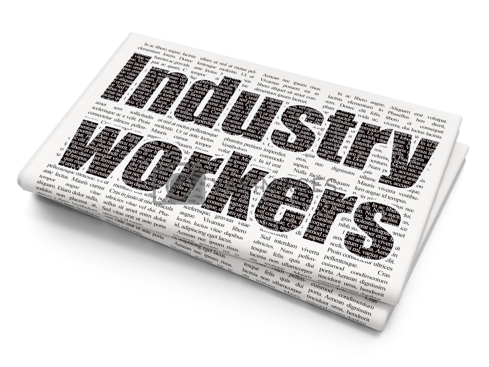 Manufacuring concept: Industry Workers on Newspaper background by maxkabakov