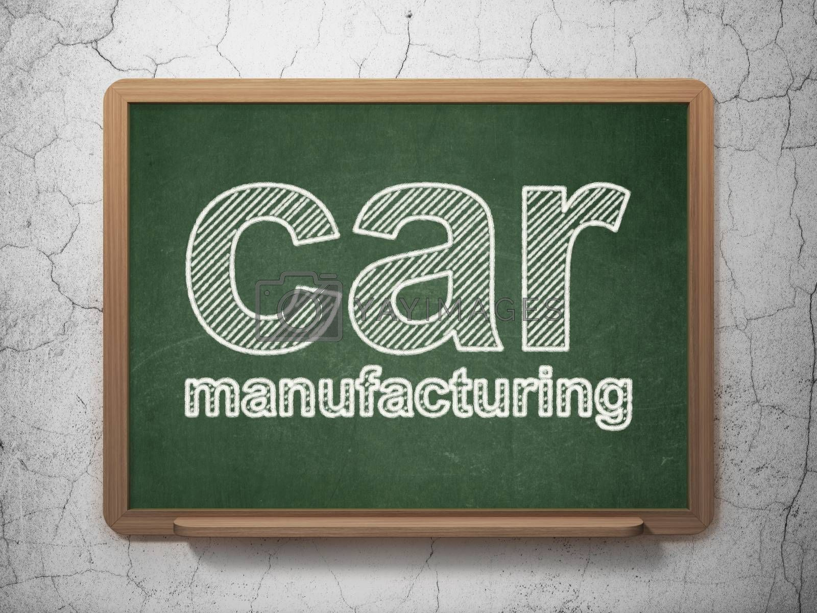 Manufacuring concept: Car Manufacturing on chalkboard background by maxkabakov