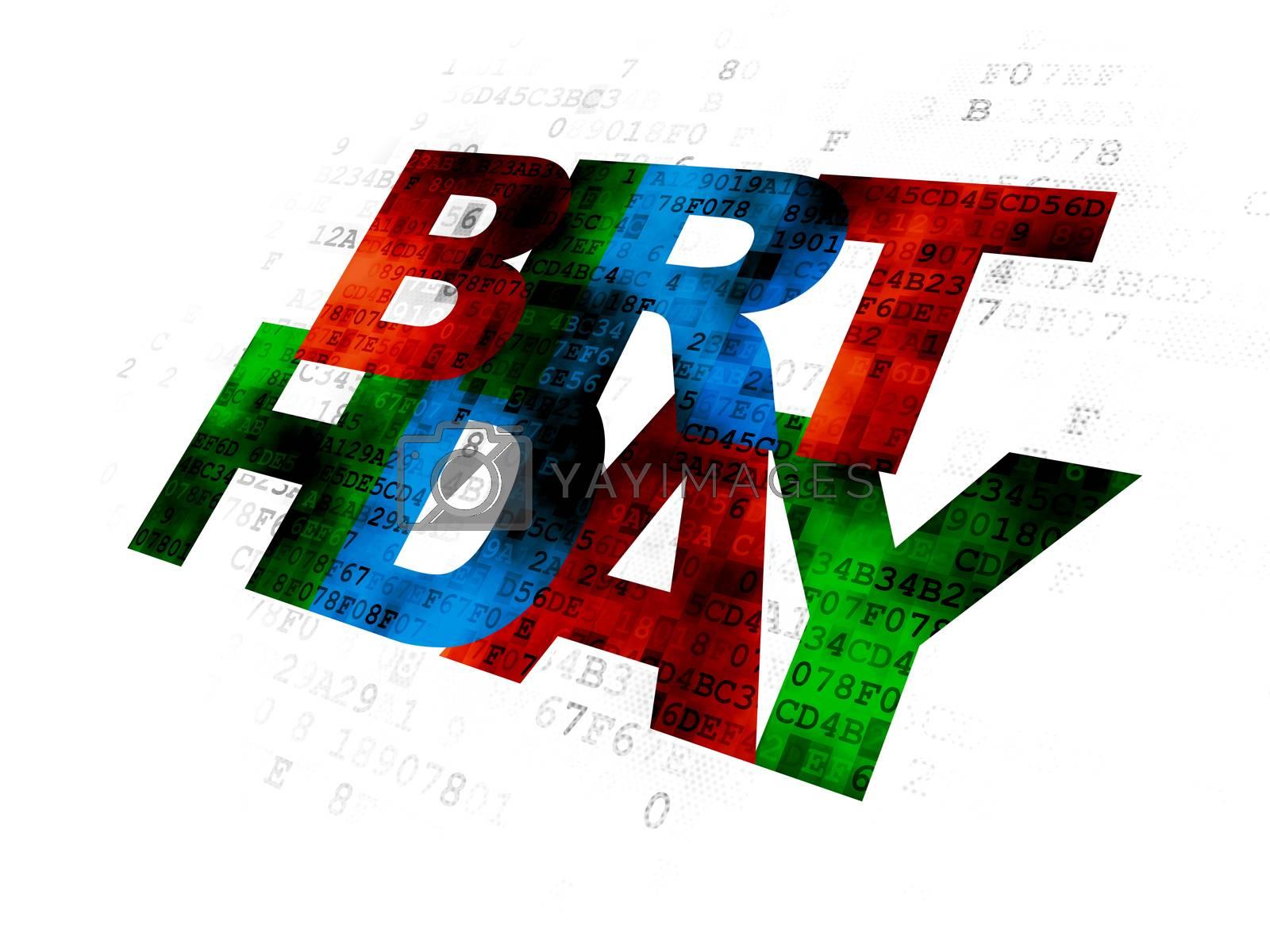 Holiday concept: Birthday on Digital background by maxkabakov