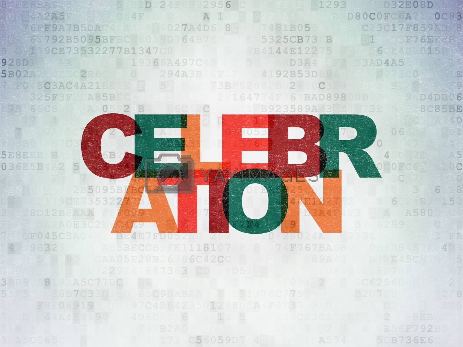 Entertainment, concept: Celebration on Digital Paper background by maxkabakov