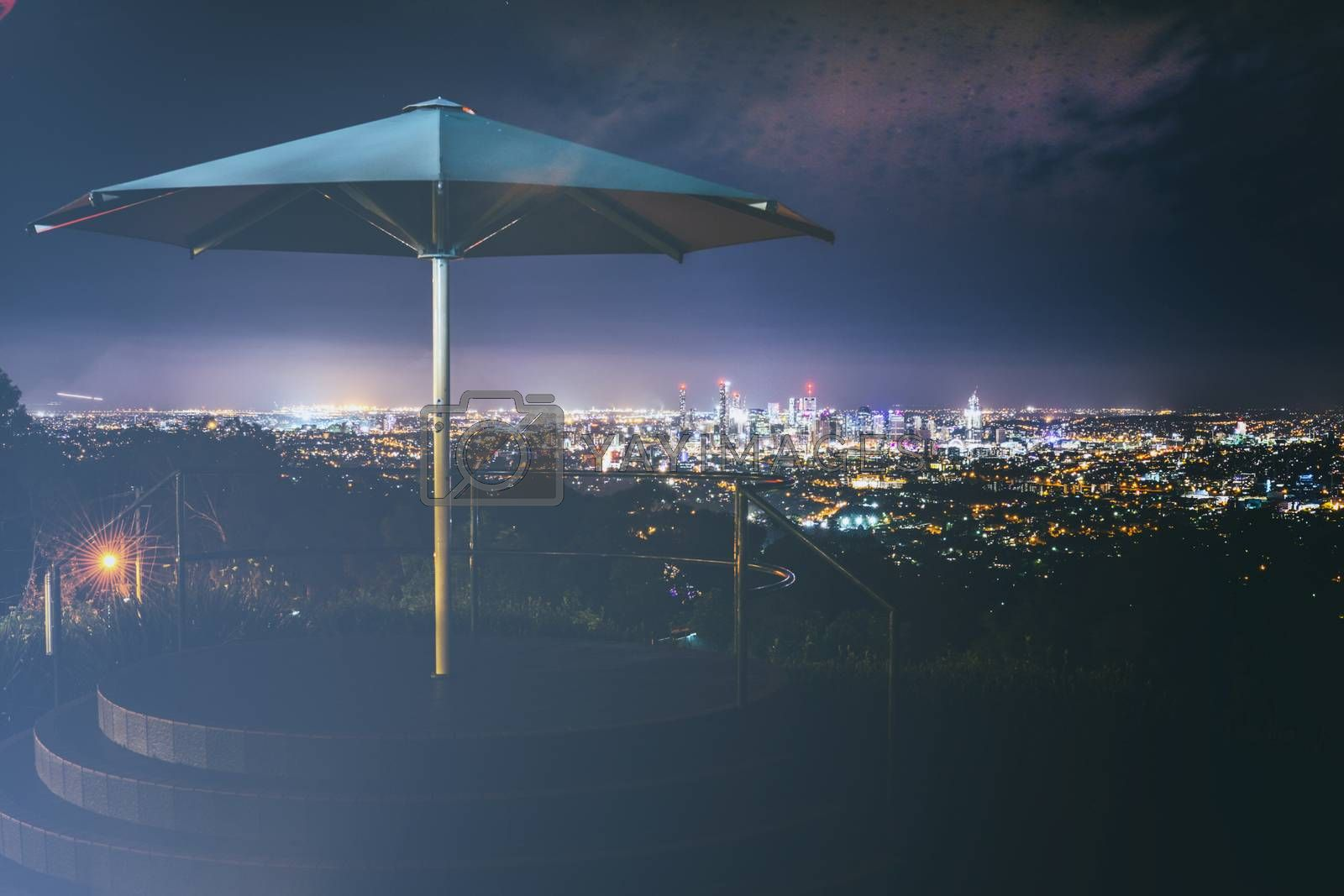View of Brisbane City from Mount Coot-tha by artistrobd
