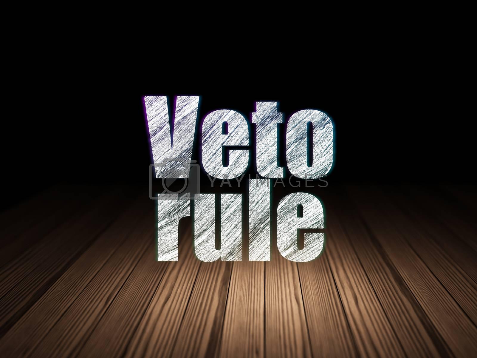 Politics concept: Veto Rule in grunge dark room by maxkabakov
