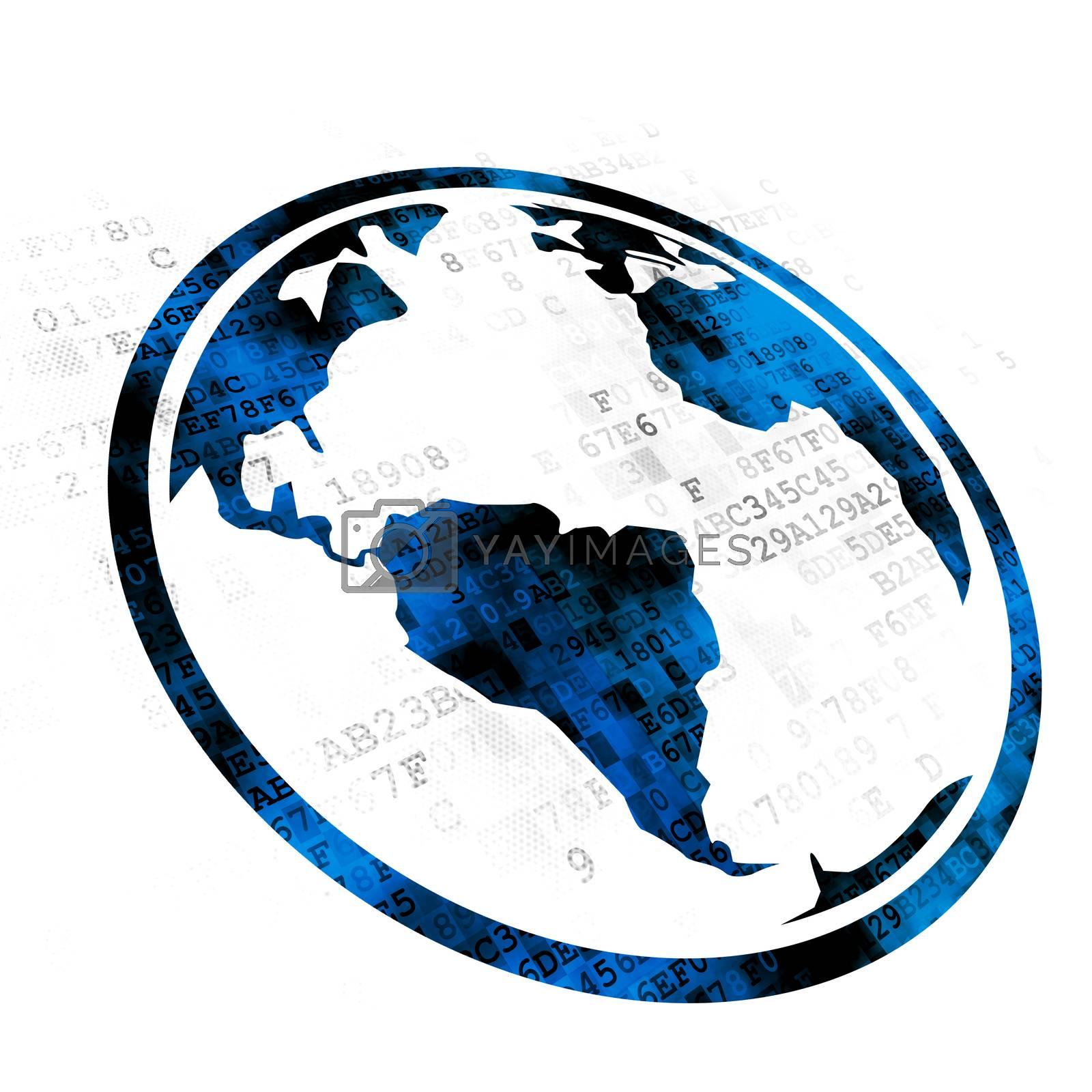 Learning concept: Globe on Digital background by maxkabakov