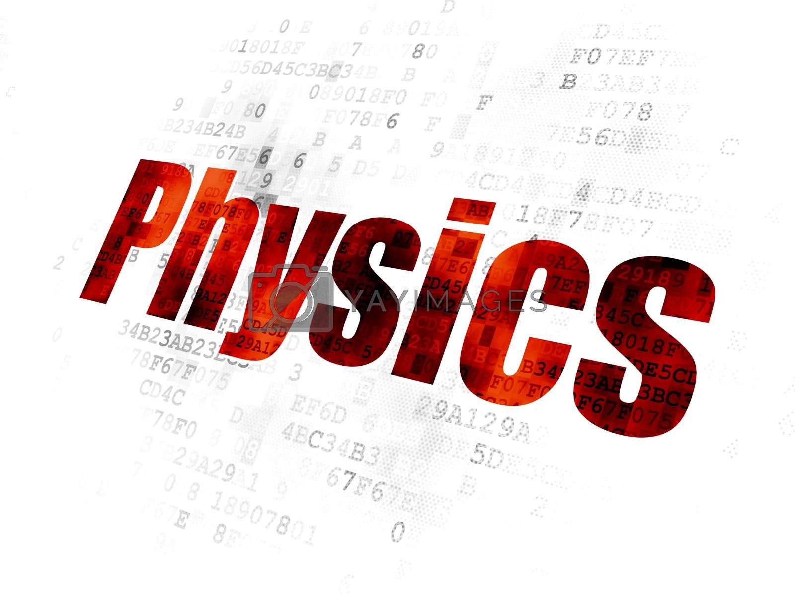 Learning concept: Physics on Digital background by maxkabakov