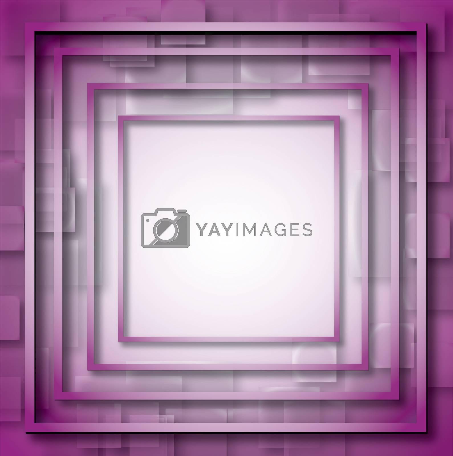 Illustration of purple empty, single, colorful, web, internet, square frame. by wektorygrafika