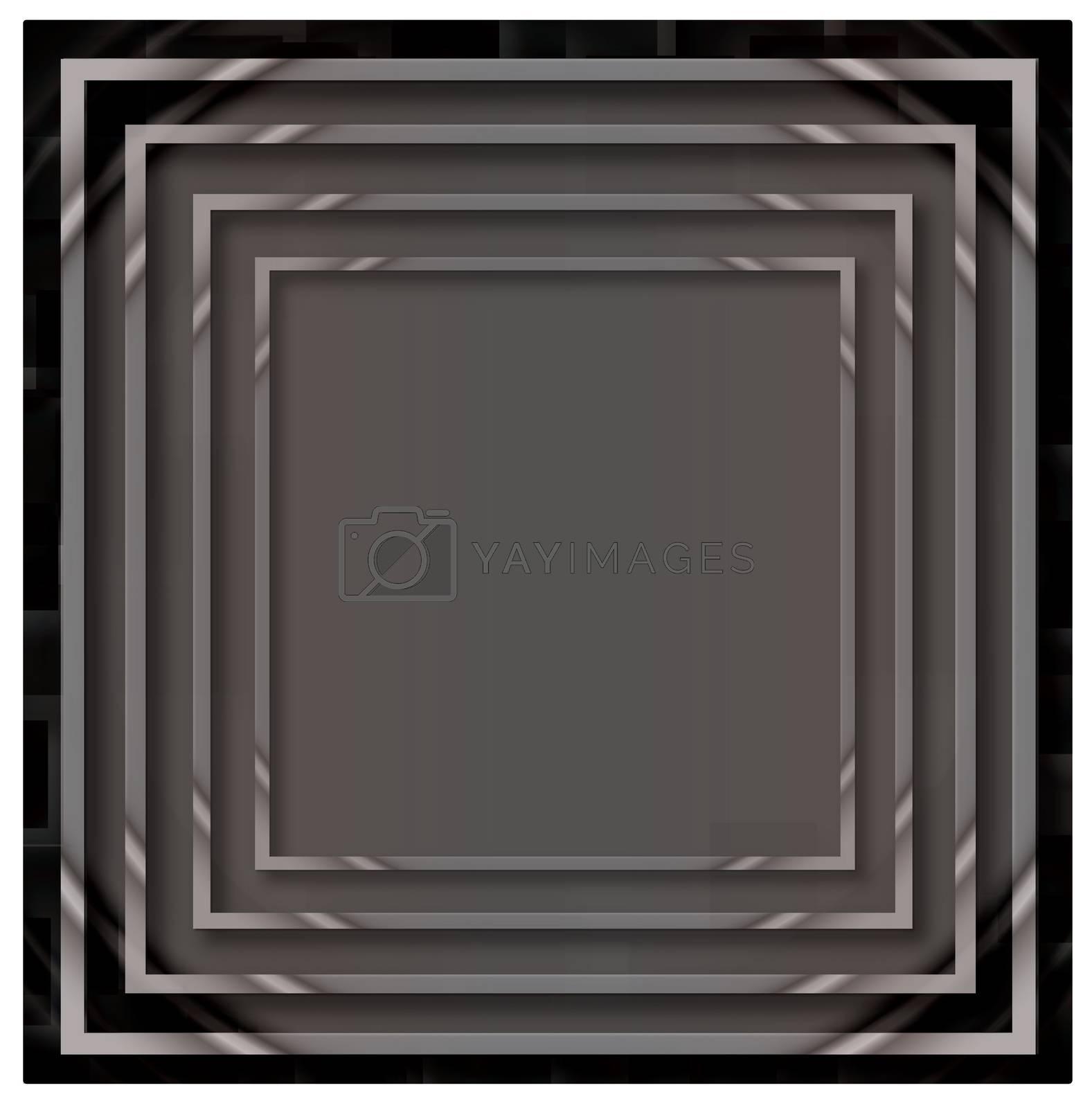 Illustration of grey empty, single, colorful, web, internet, square frame. by wektorygrafika