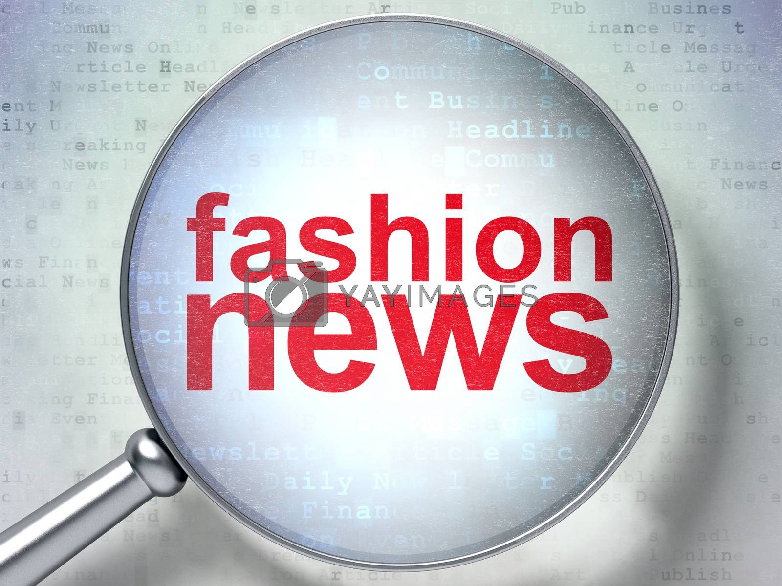 News concept: Fashion News with optical glass by maxkabakov
