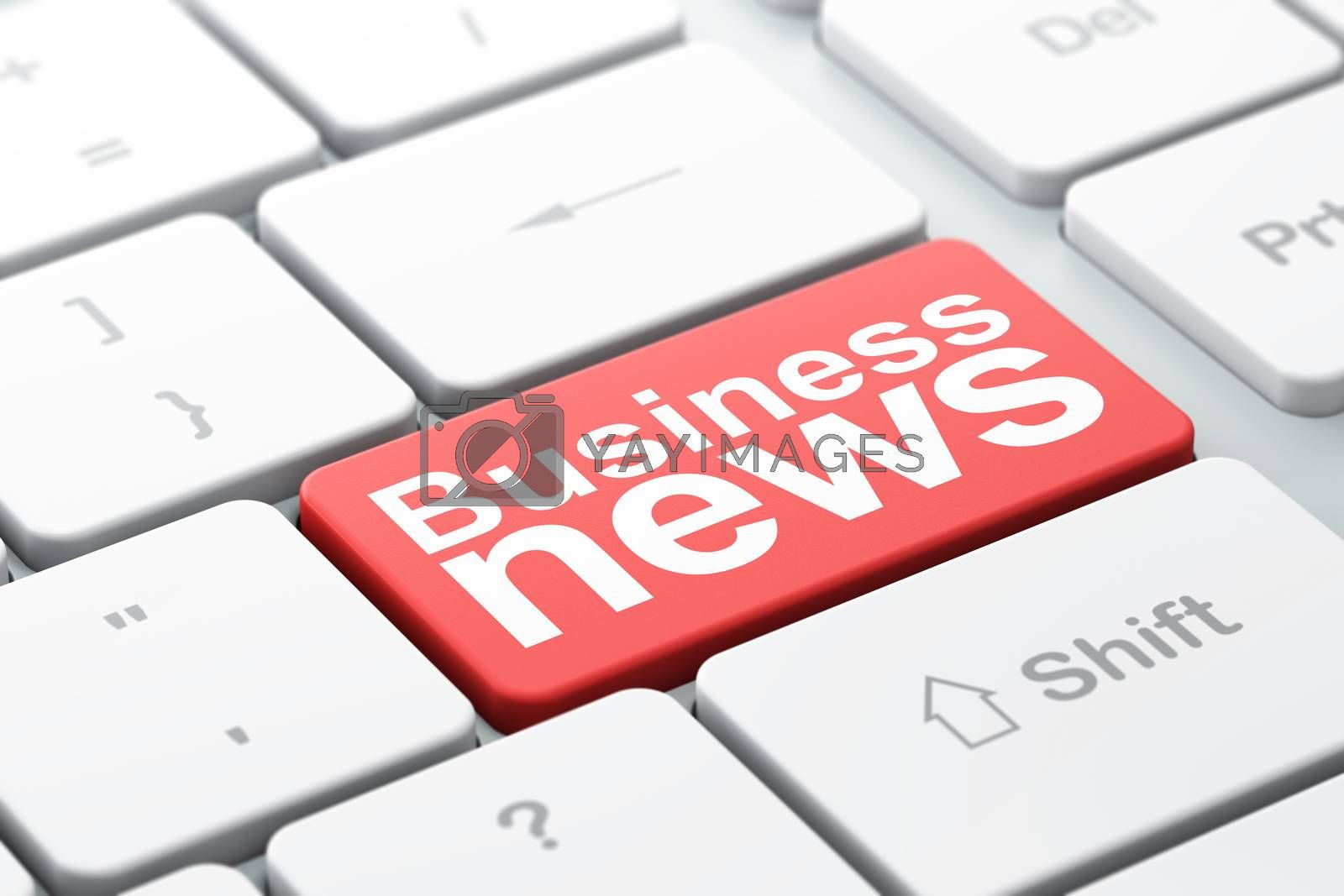 News concept: Business News on computer keyboard background by maxkabakov