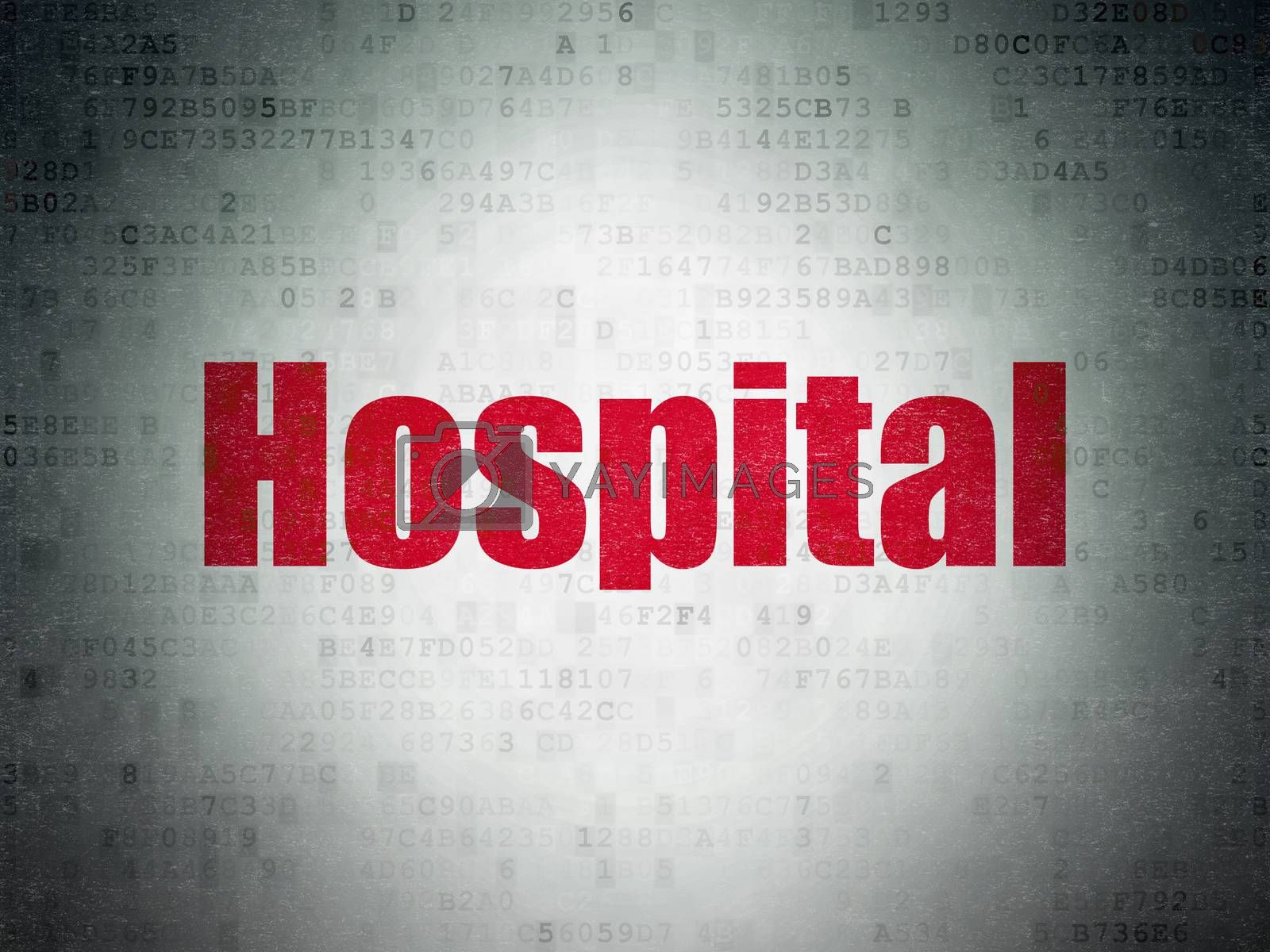 Health concept: Hospital on Digital Paper background by maxkabakov