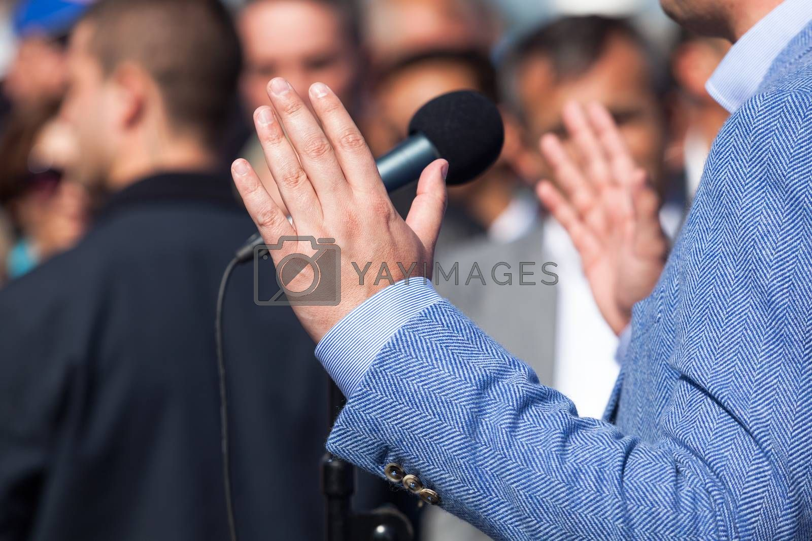 Politician or businessman speech by wellphoto