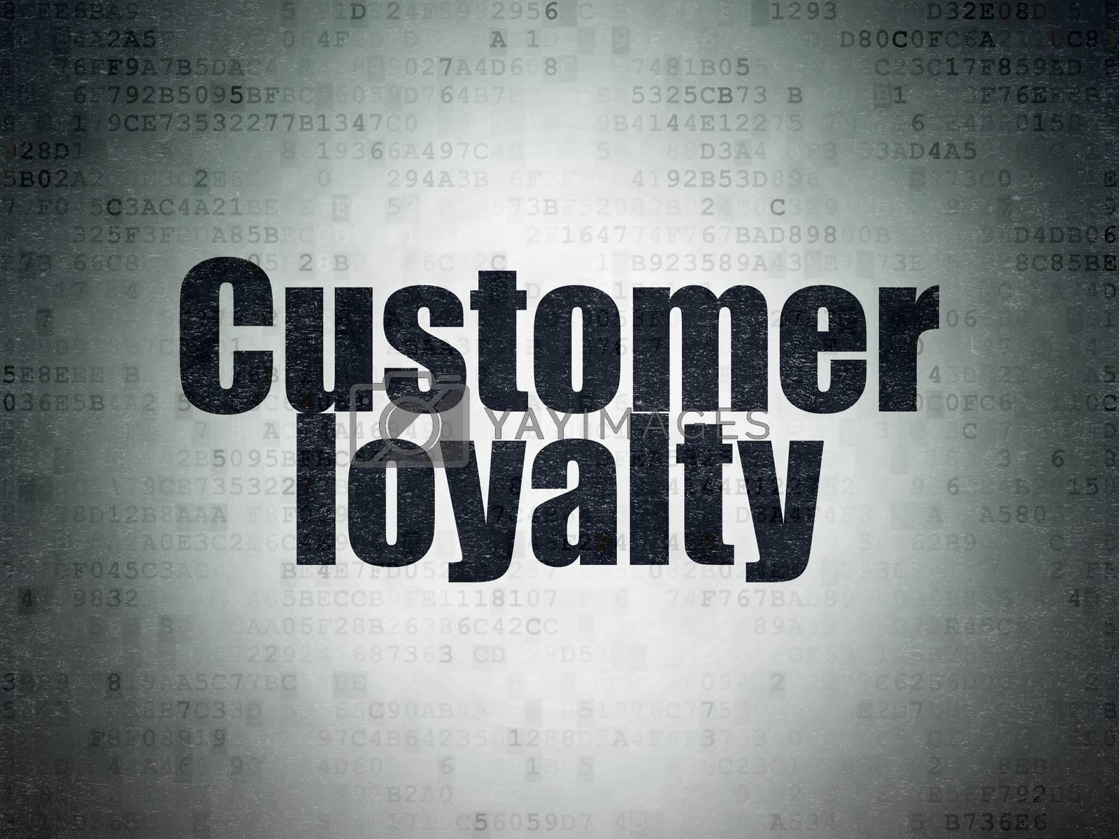 Advertising concept: Customer Loyalty on Digital Paper background by maxkabakov