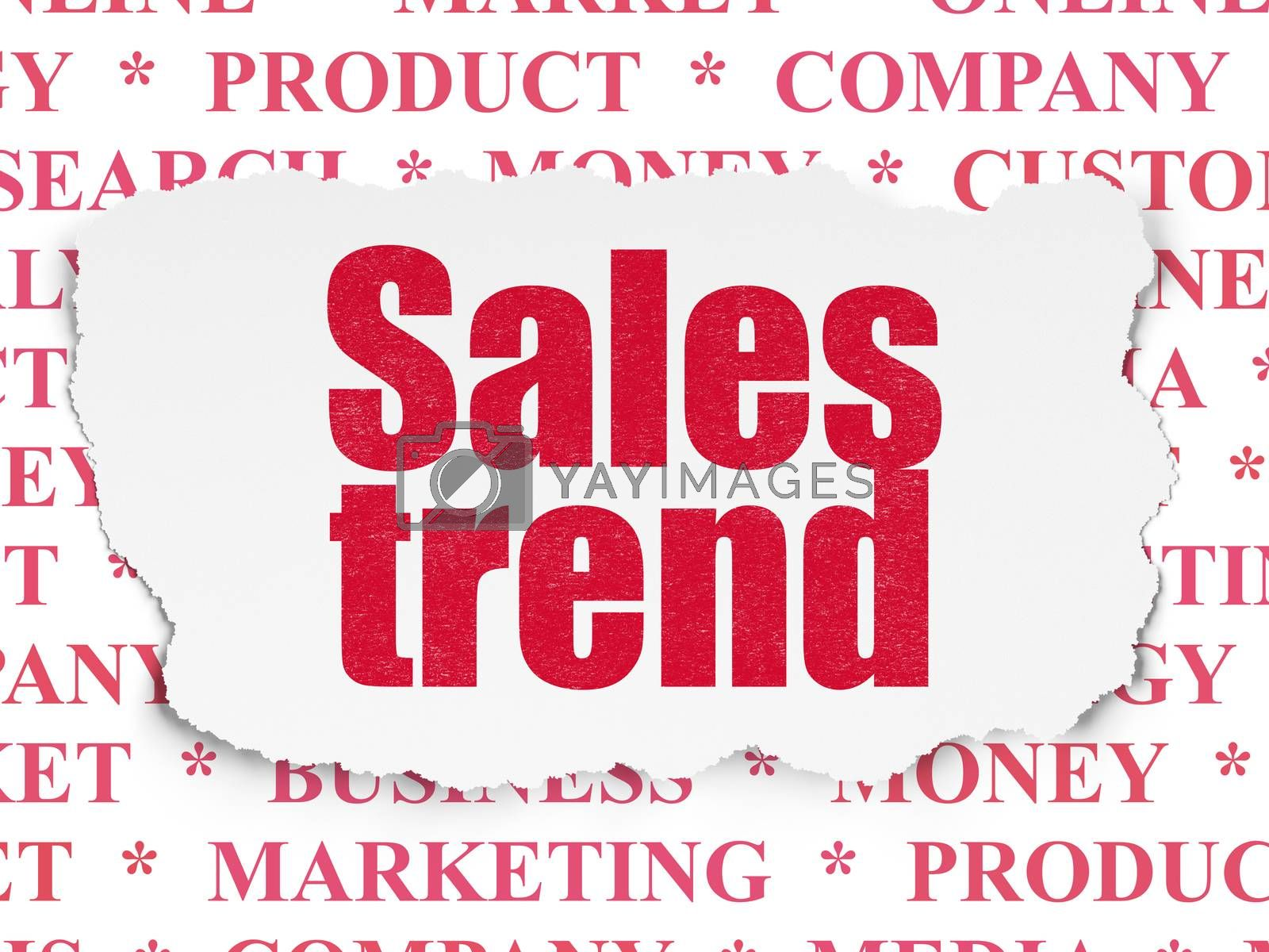Advertising concept: Sales Trend on Torn Paper background by maxkabakov