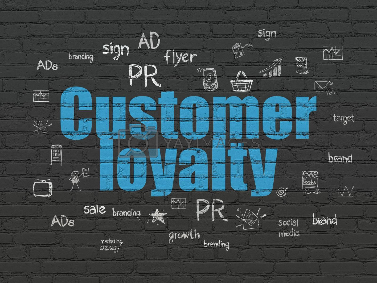 Advertising concept: Customer Loyalty on wall background by maxkabakov