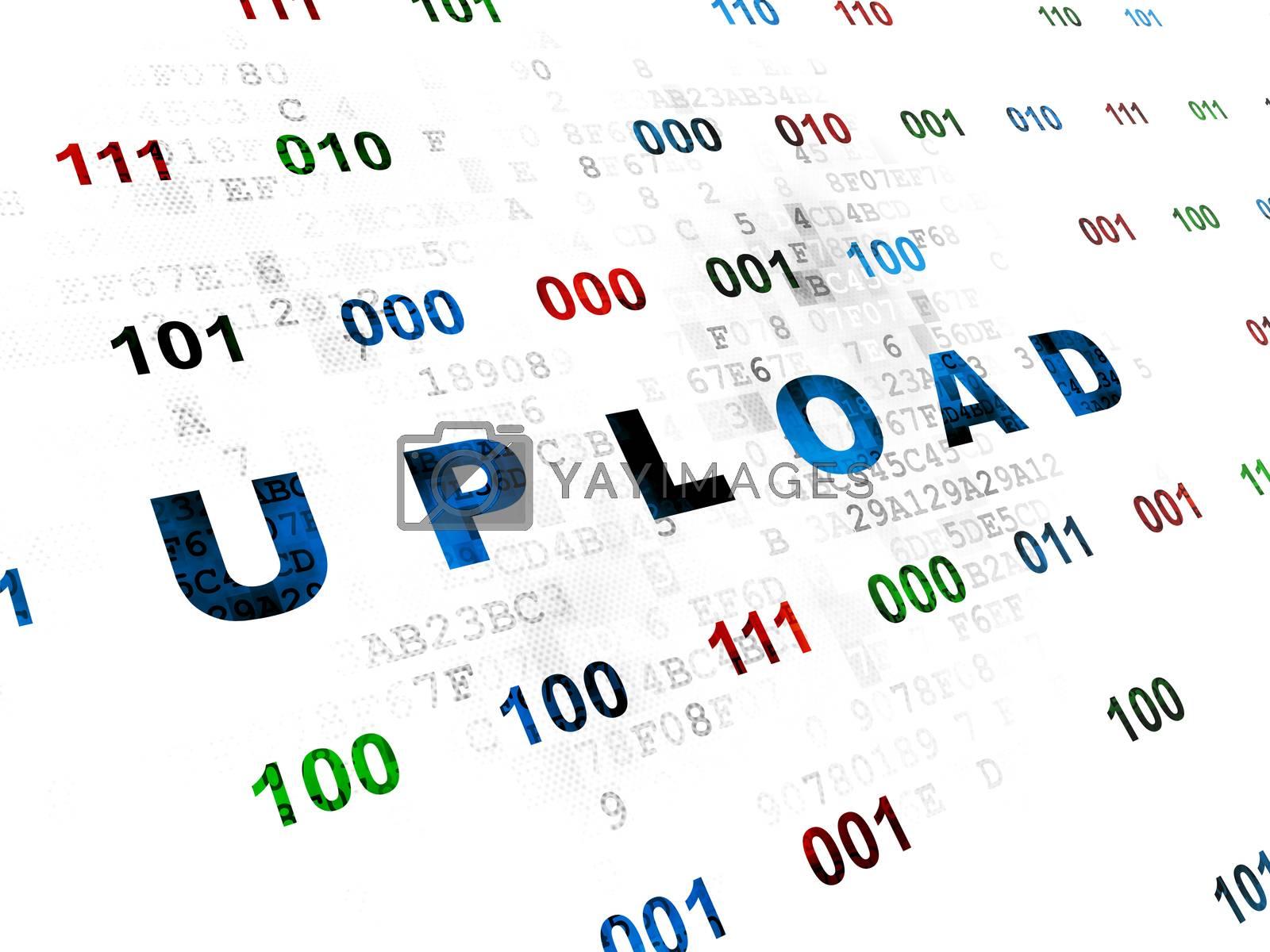 Web design concept: Upload on Digital background by maxkabakov
