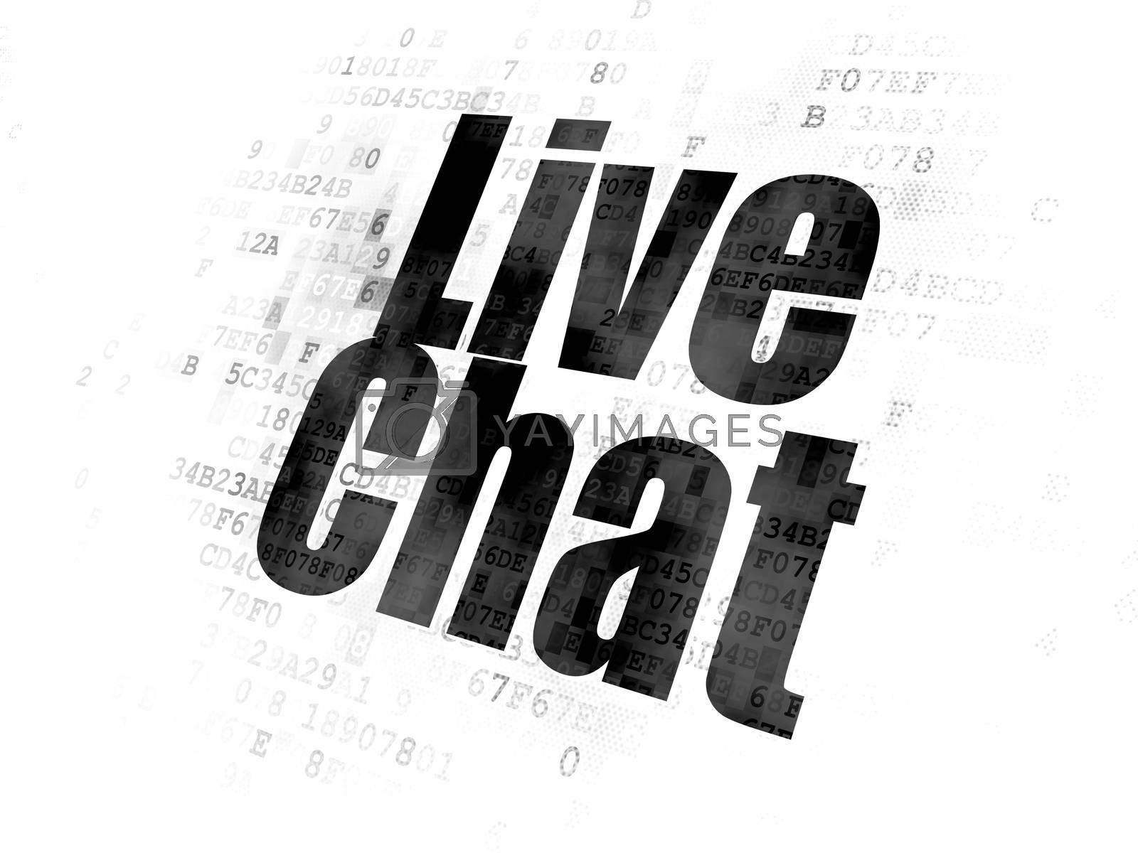 Web design concept: Live Chat on Digital background by maxkabakov