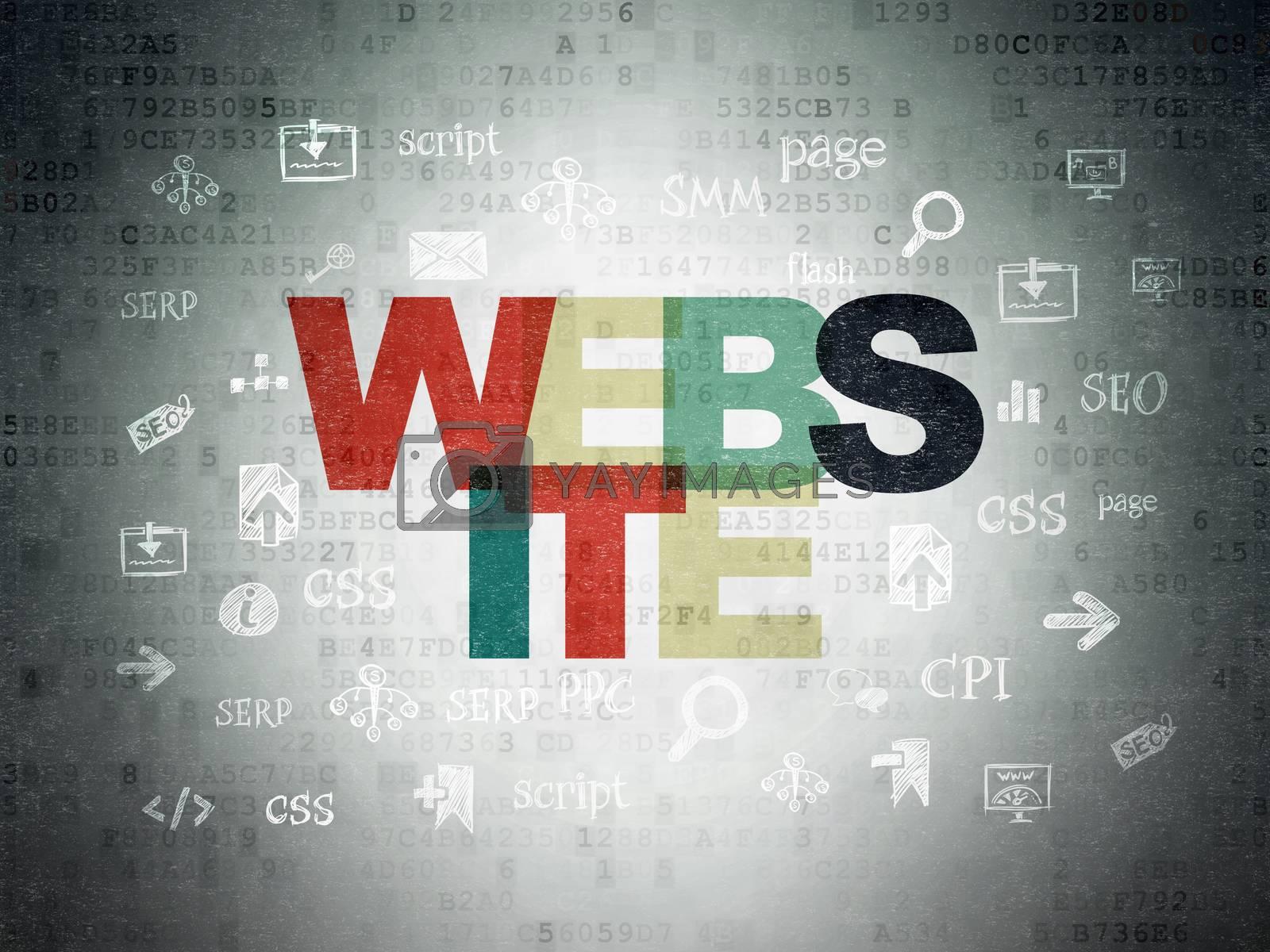 Web design concept: Website on Digital Paper background by maxkabakov