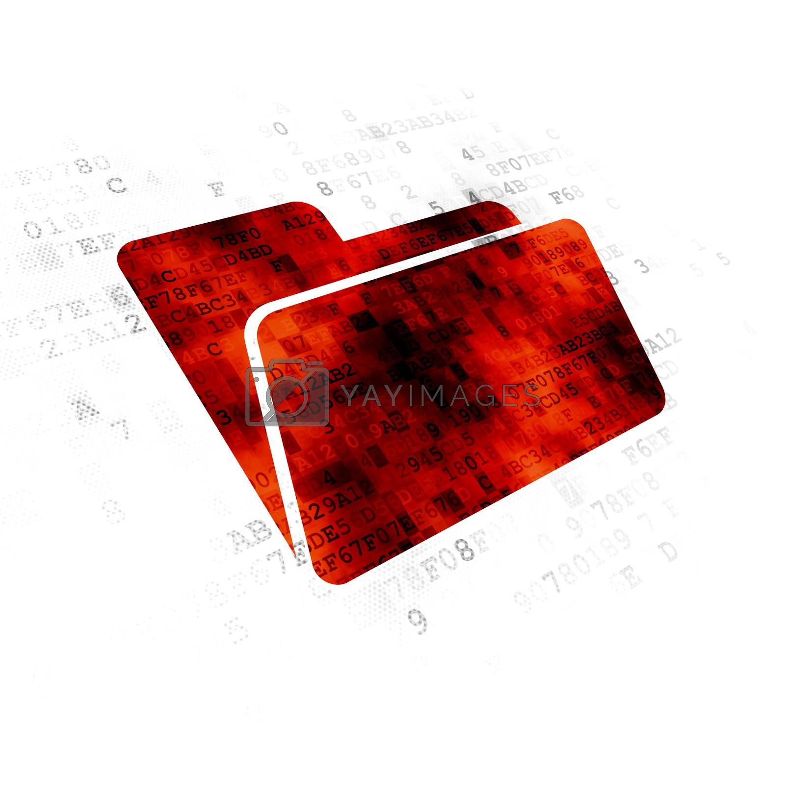Business concept: Folder on Digital background by maxkabakov